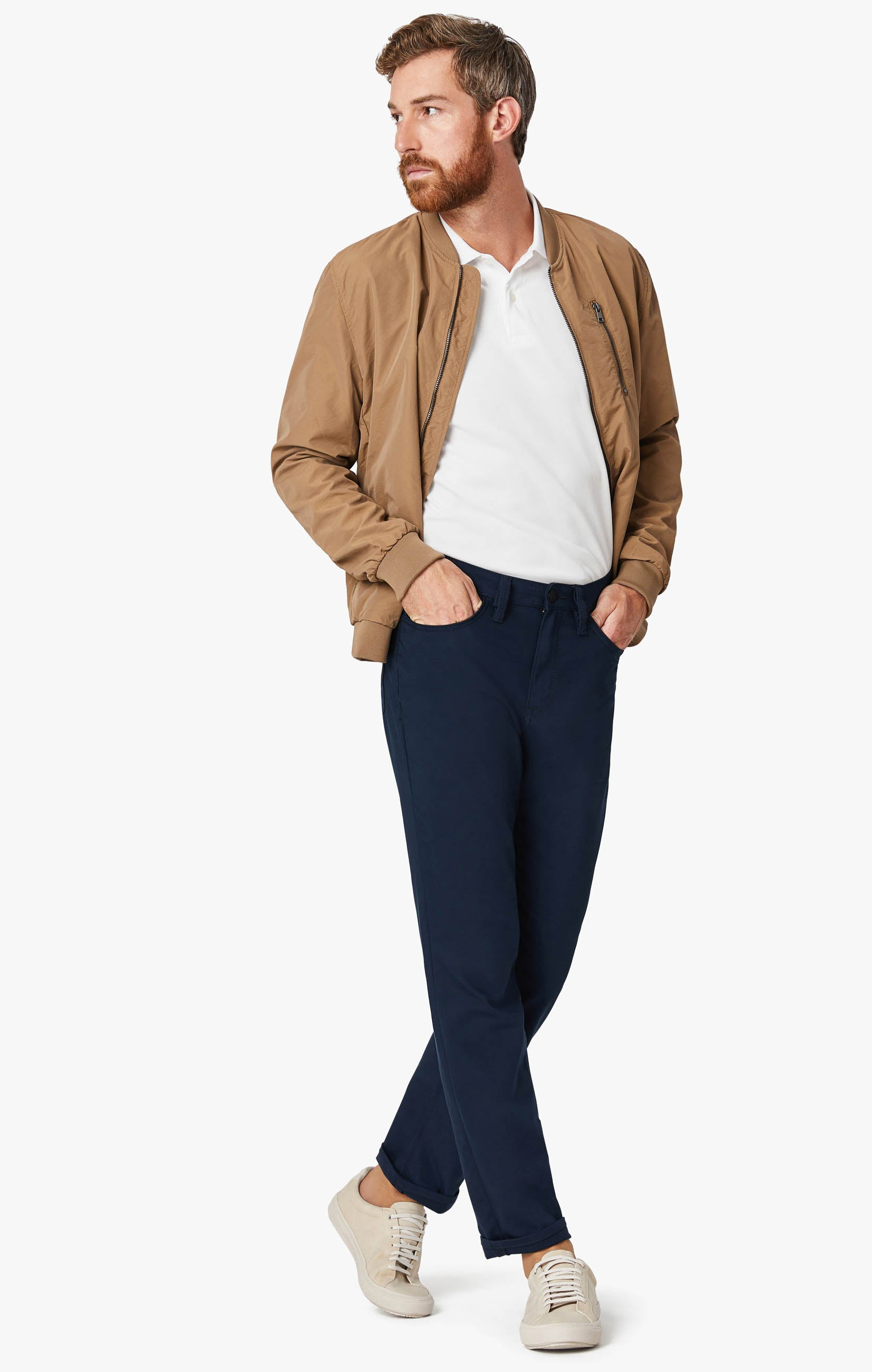 Charisma Relaxed Straight Commuter Pants In Navy Image 10