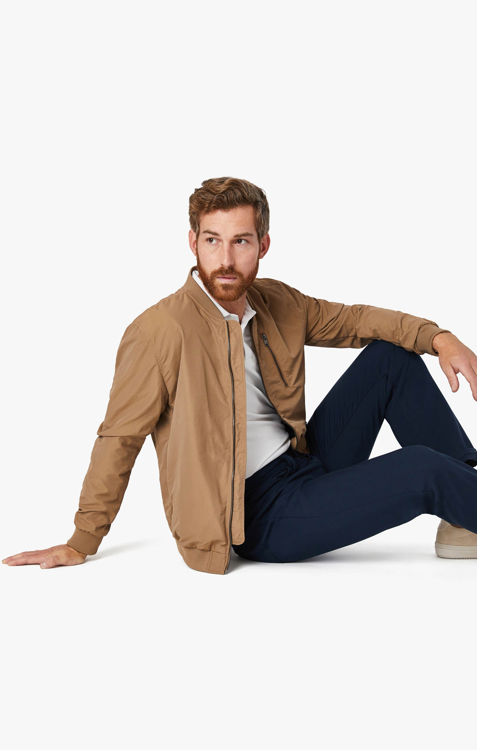 Charisma Relaxed Straight Commuter Pants In Navy Image 11
