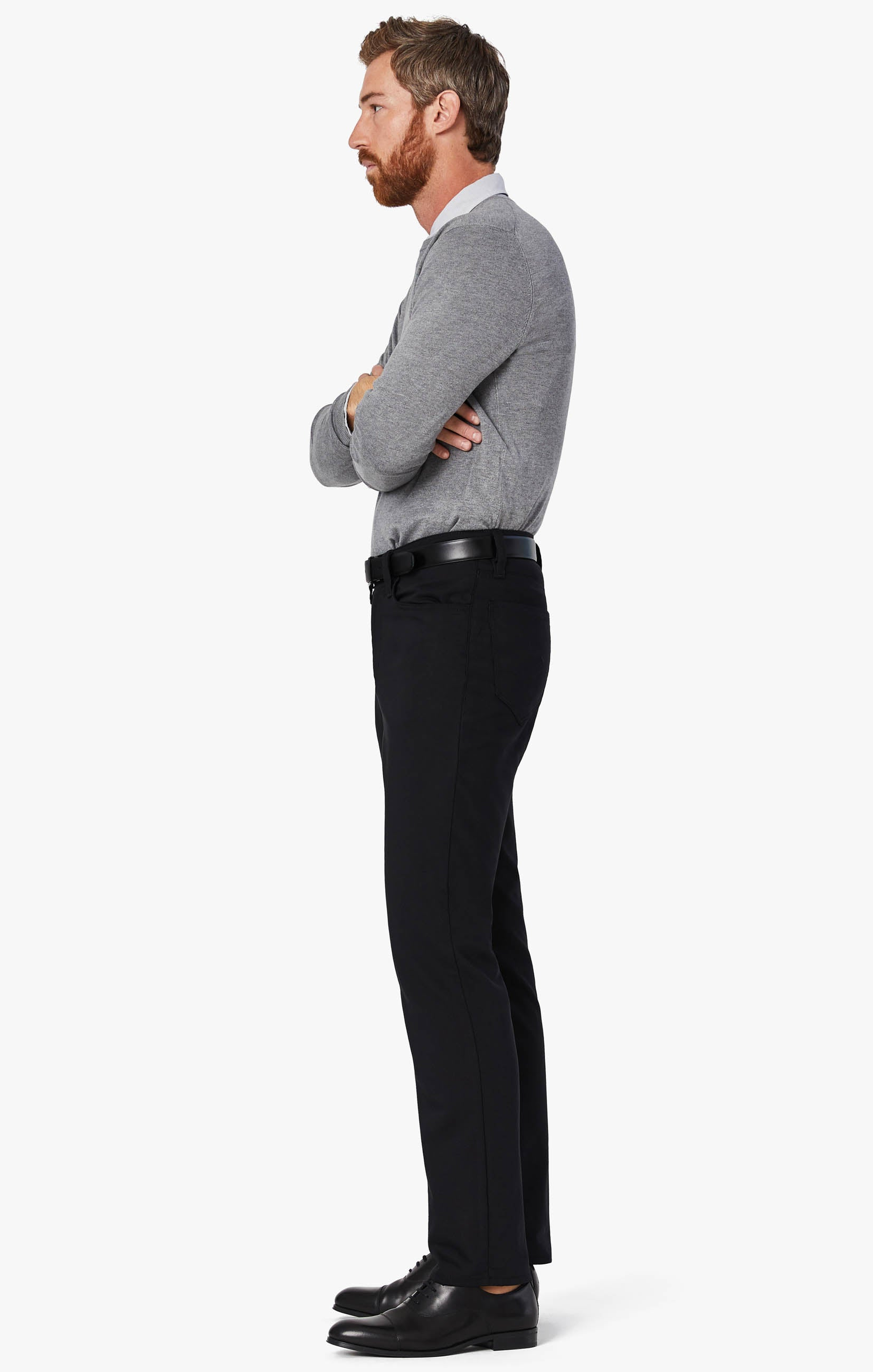 Charisma Relaxed Straight Commuter Pants In Onyx Image 5