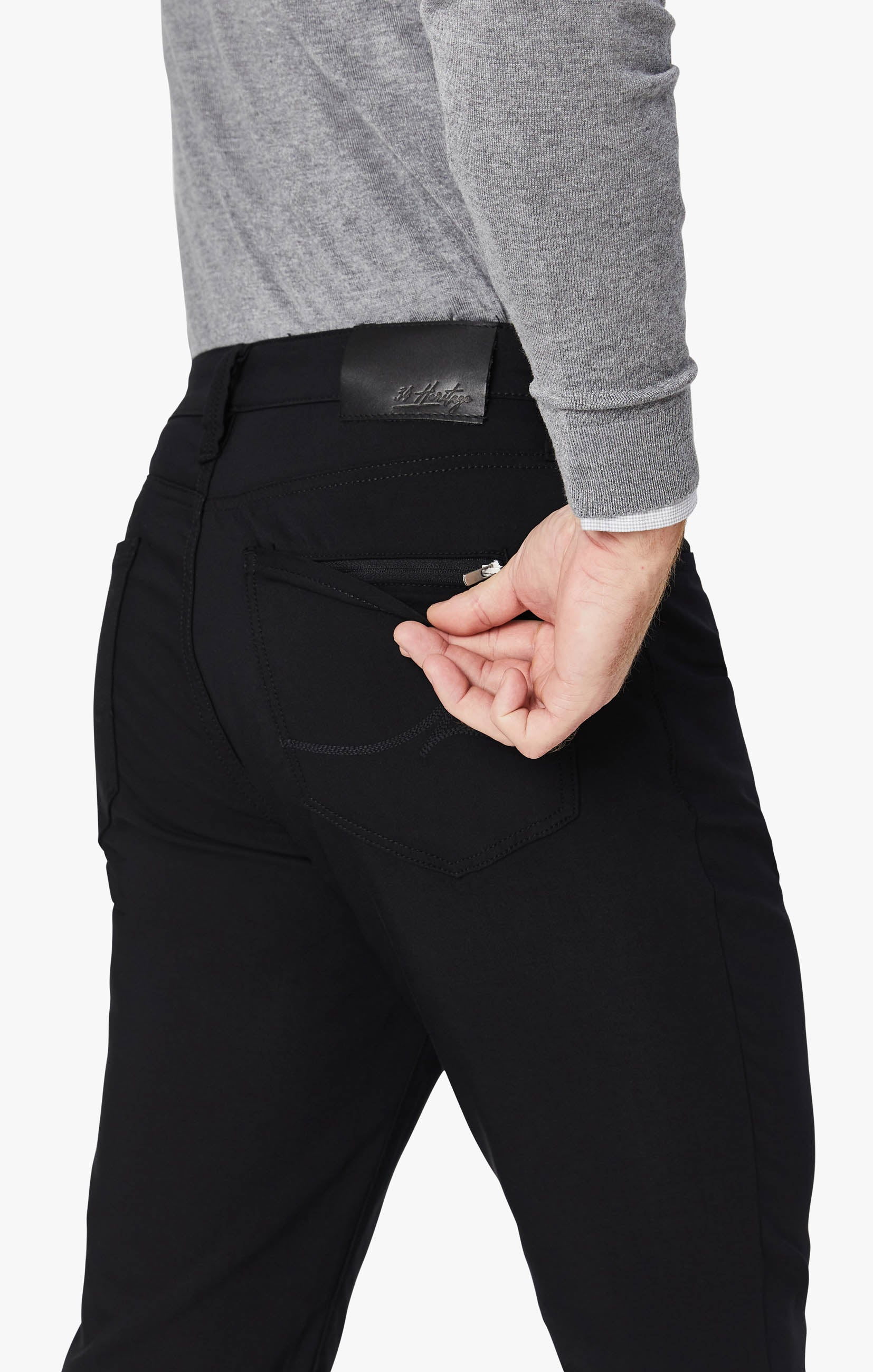 Charisma Relaxed Straight Commuter Pants In Onyx Image 3