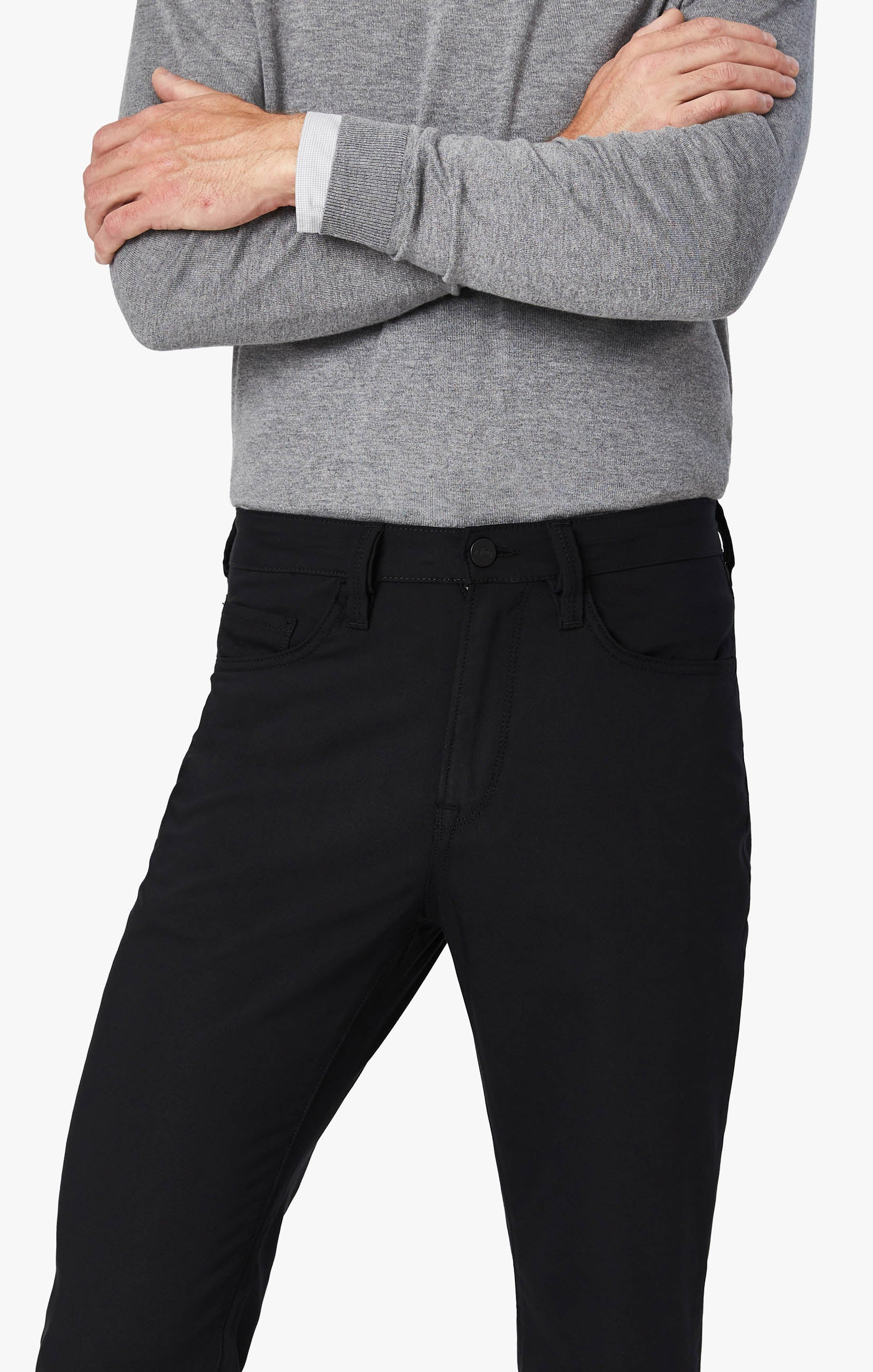Charisma Relaxed Straight Commuter Pants In Onyx Image 7