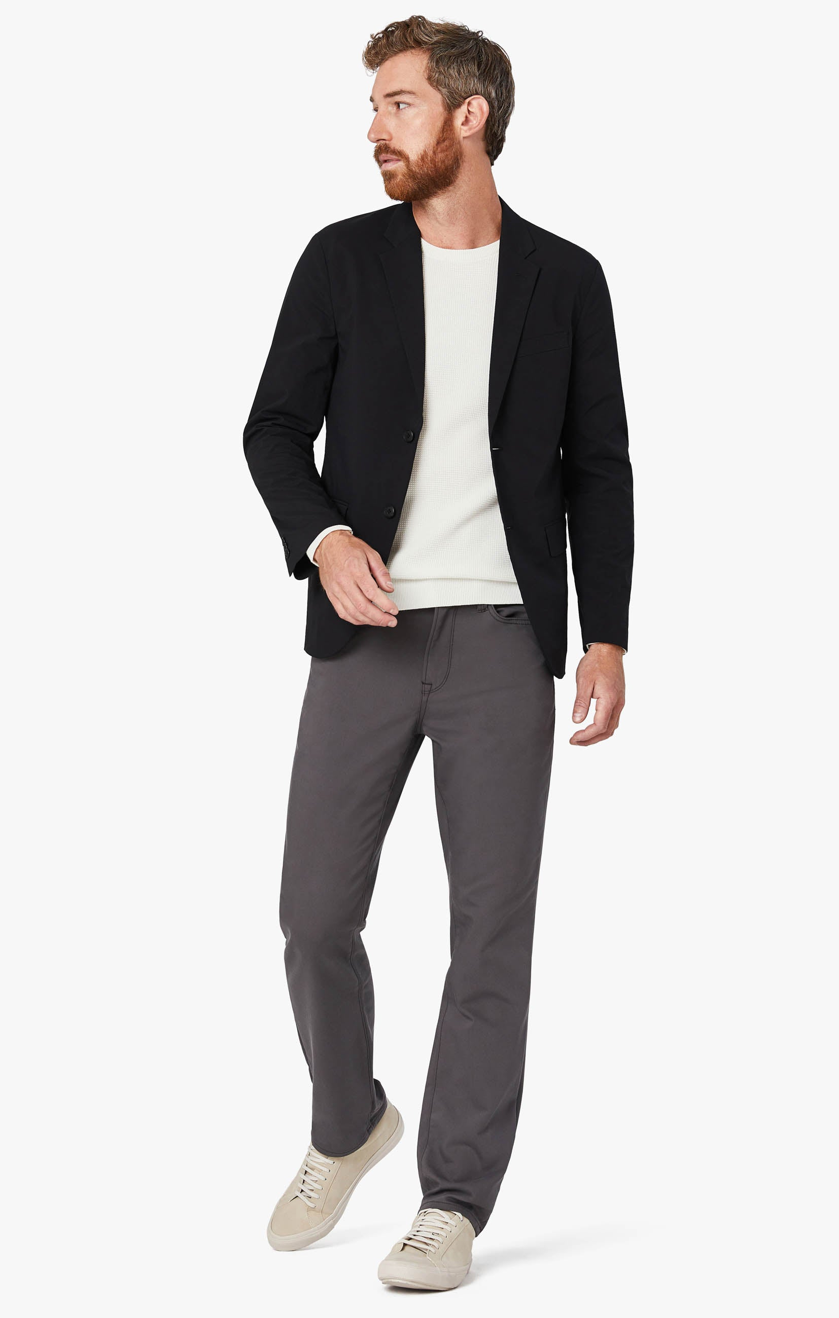 Charisma Relaxed Straight Commuter Pants In Graphite Image 1