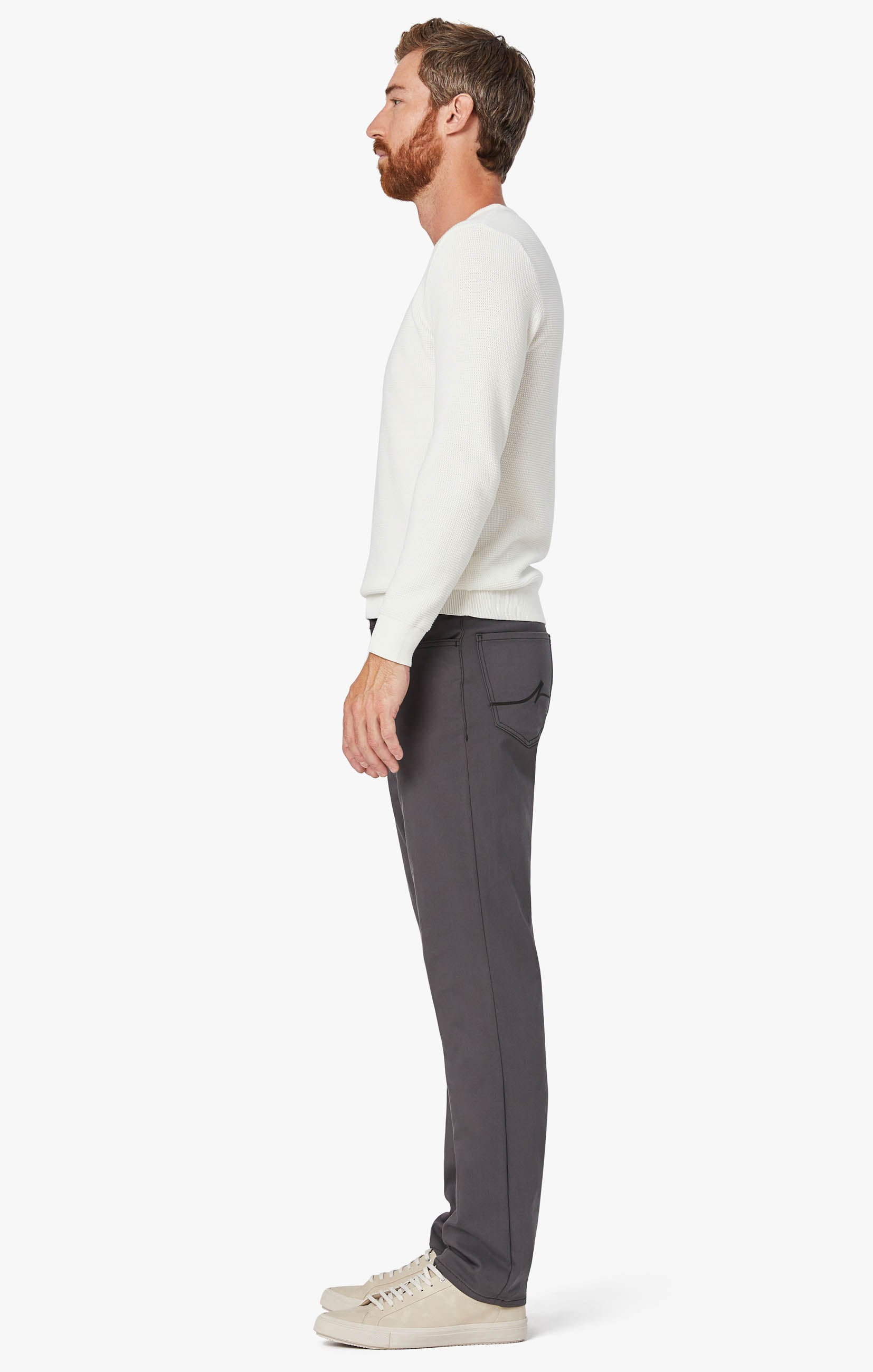 Charisma Relaxed Straight Commuter Pants In Graphite Image 2