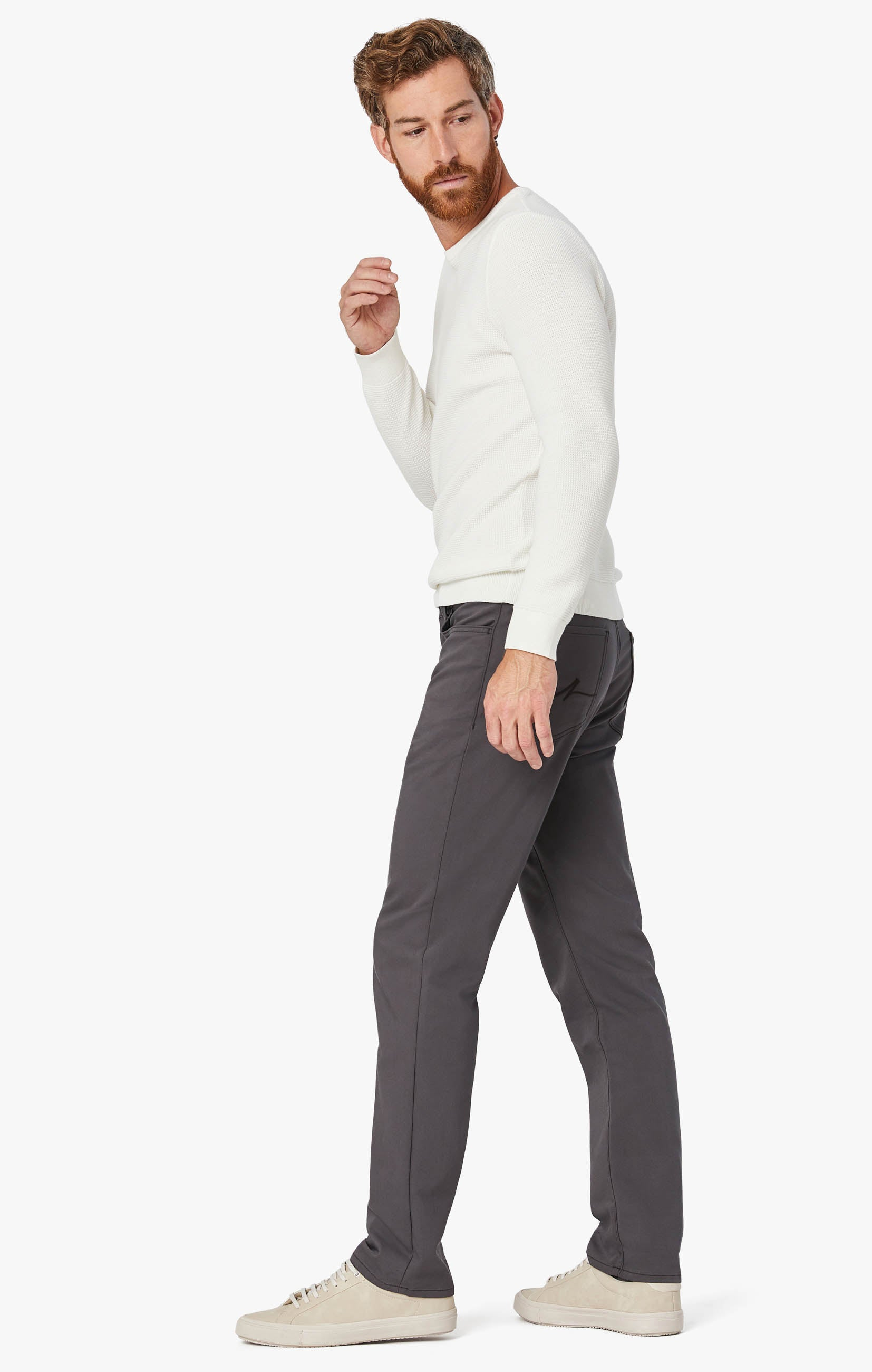 Charisma Relaxed Straight Commuter Pants In Graphite Image 3