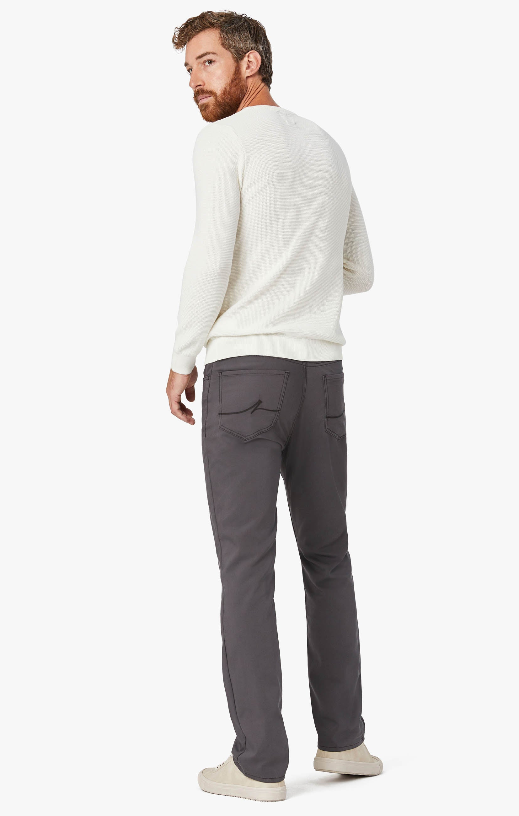 Charisma Relaxed Straight Commuter Pants In Graphite Image 10