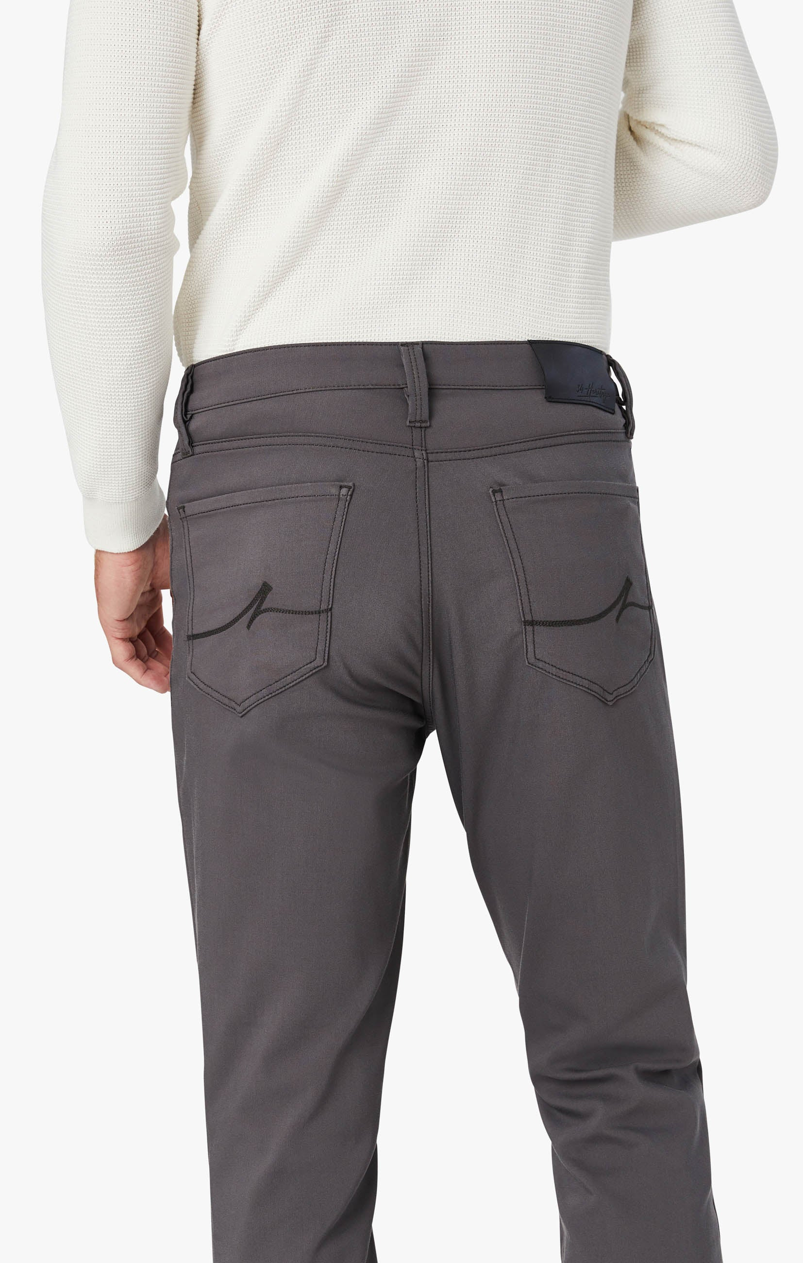 Charisma Relaxed Straight Commuter Pants In Graphite Image 7