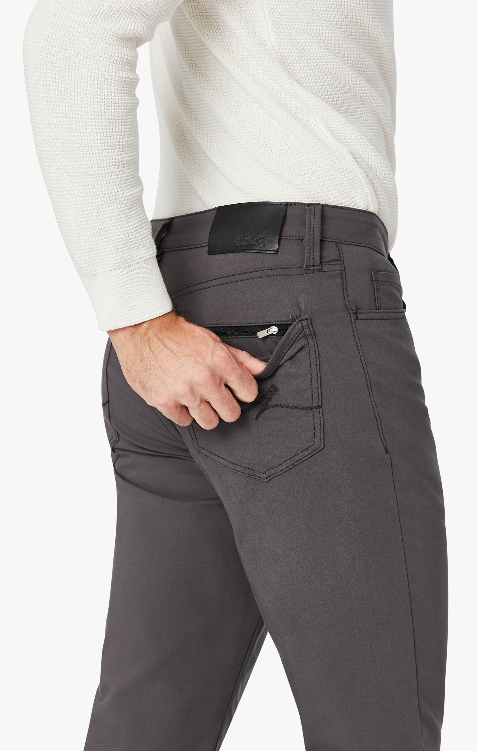 Charisma Relaxed Straight Commuter Pants In Graphite Image 6