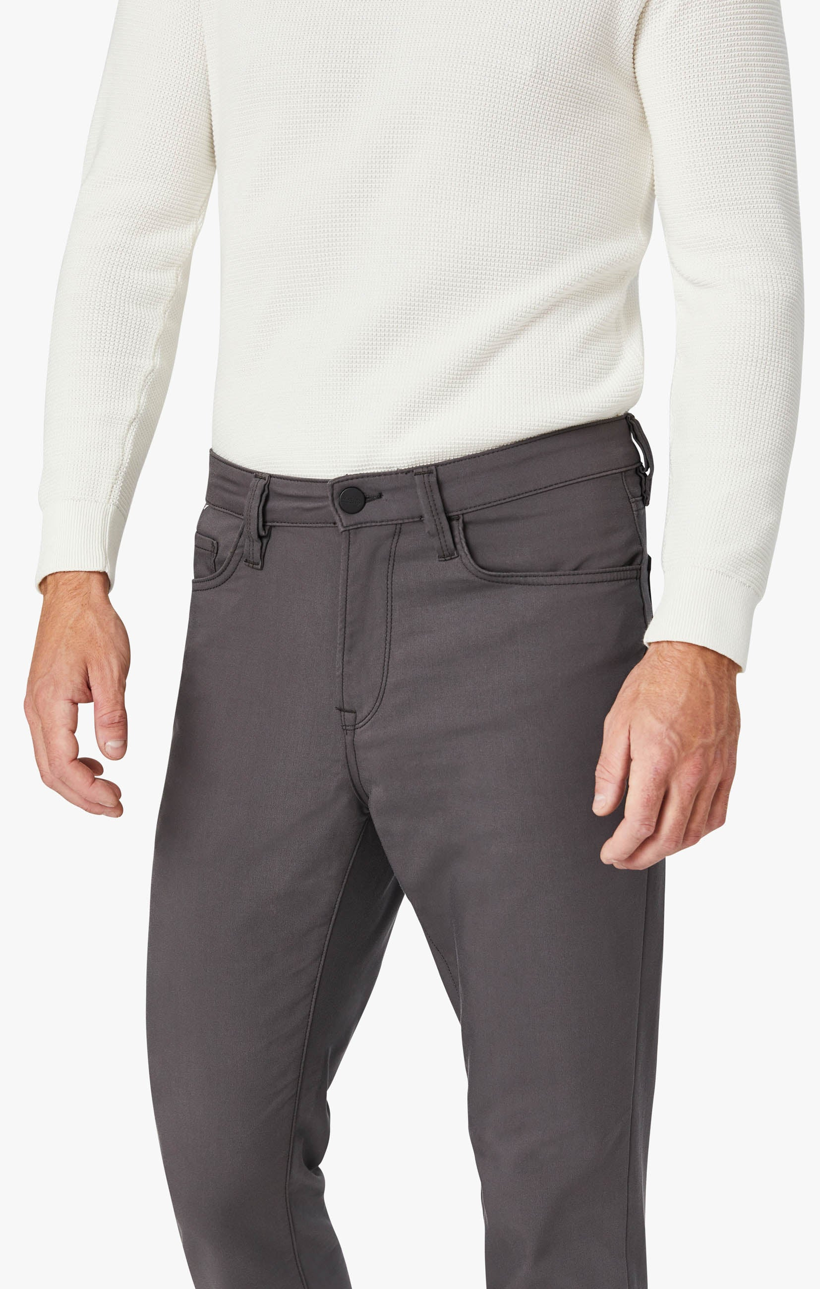 Charisma Relaxed Straight Commuter Pants In Graphite Image 5