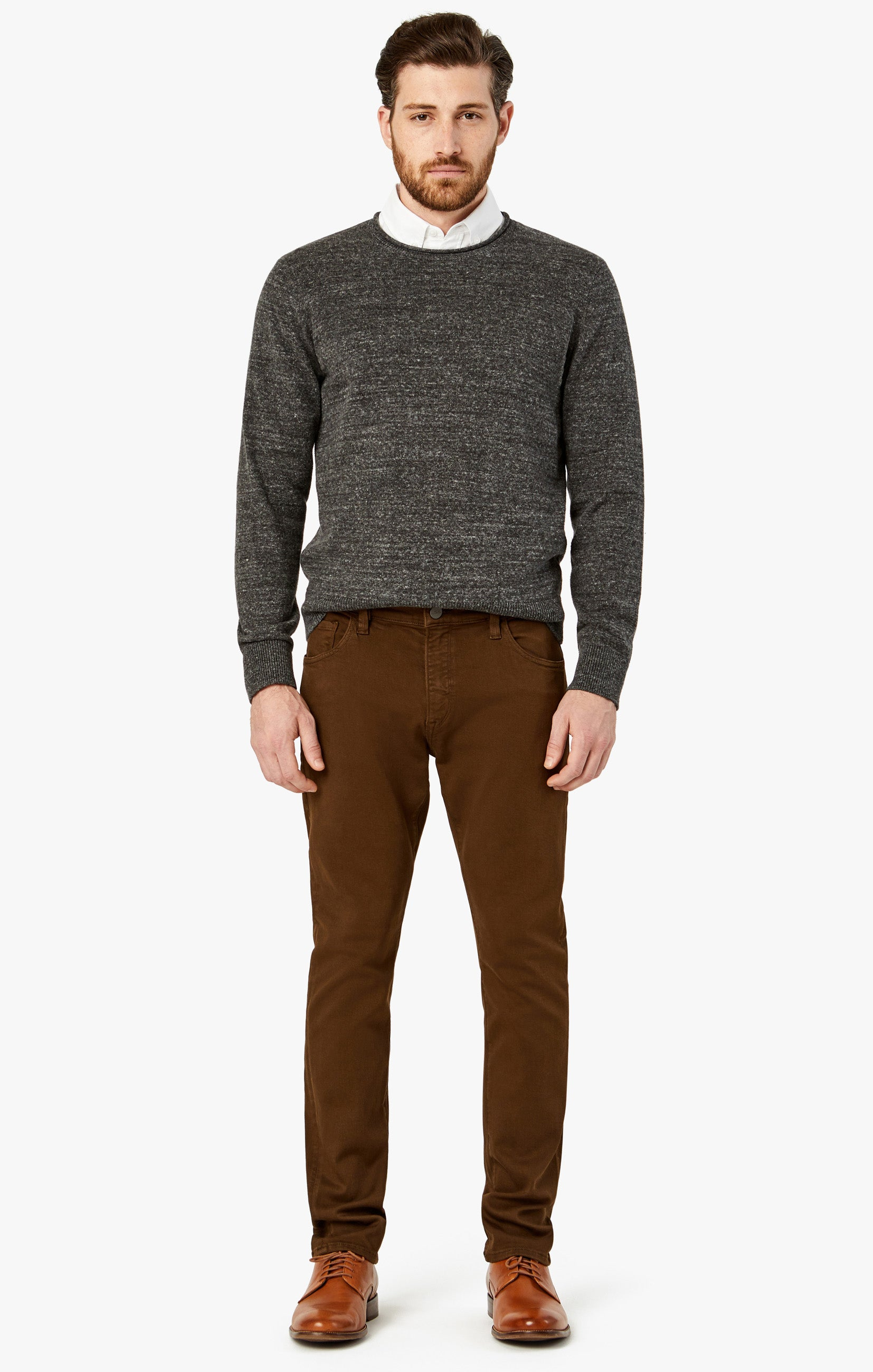 Charisma Relaxed Straight Pants in Brown Comfort Image 3