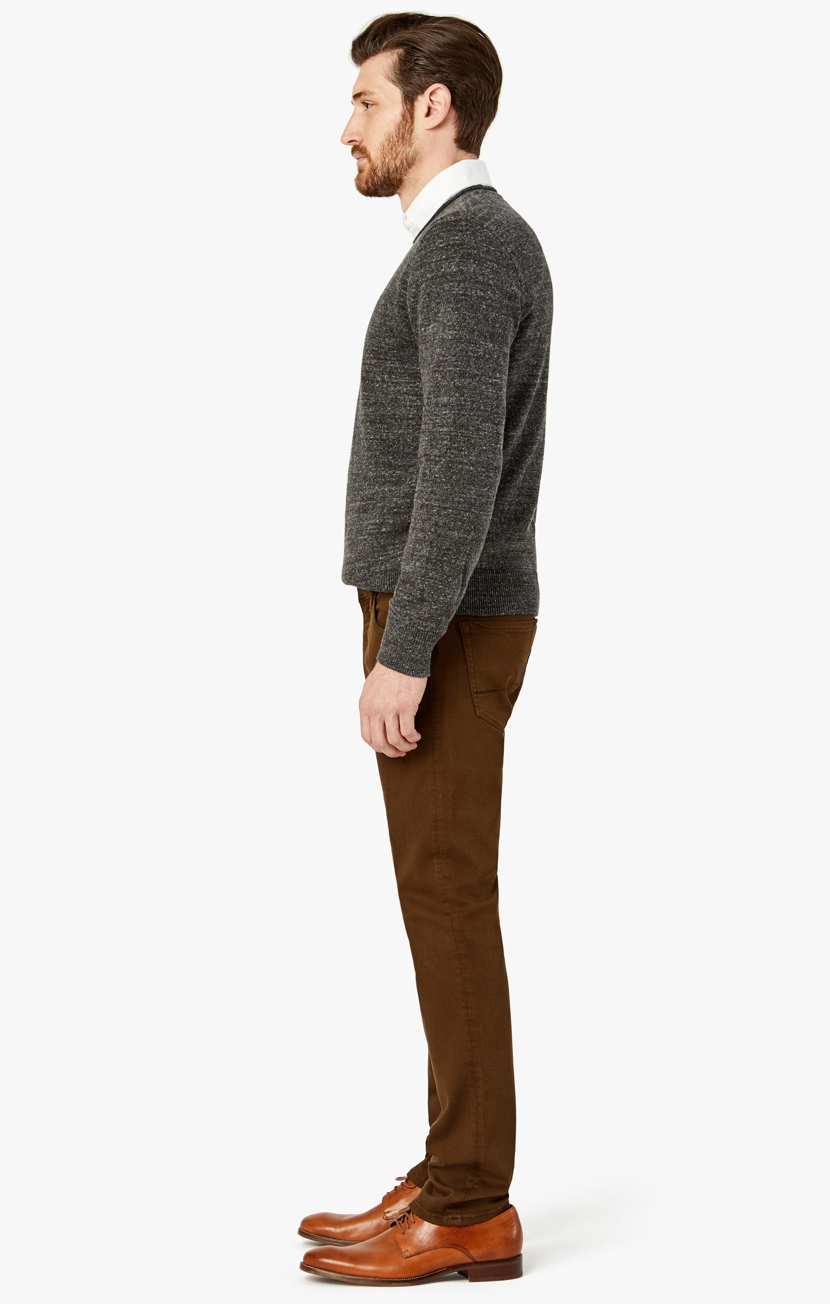 Charisma Relaxed Straight Pants in Brown Comfort Image 4