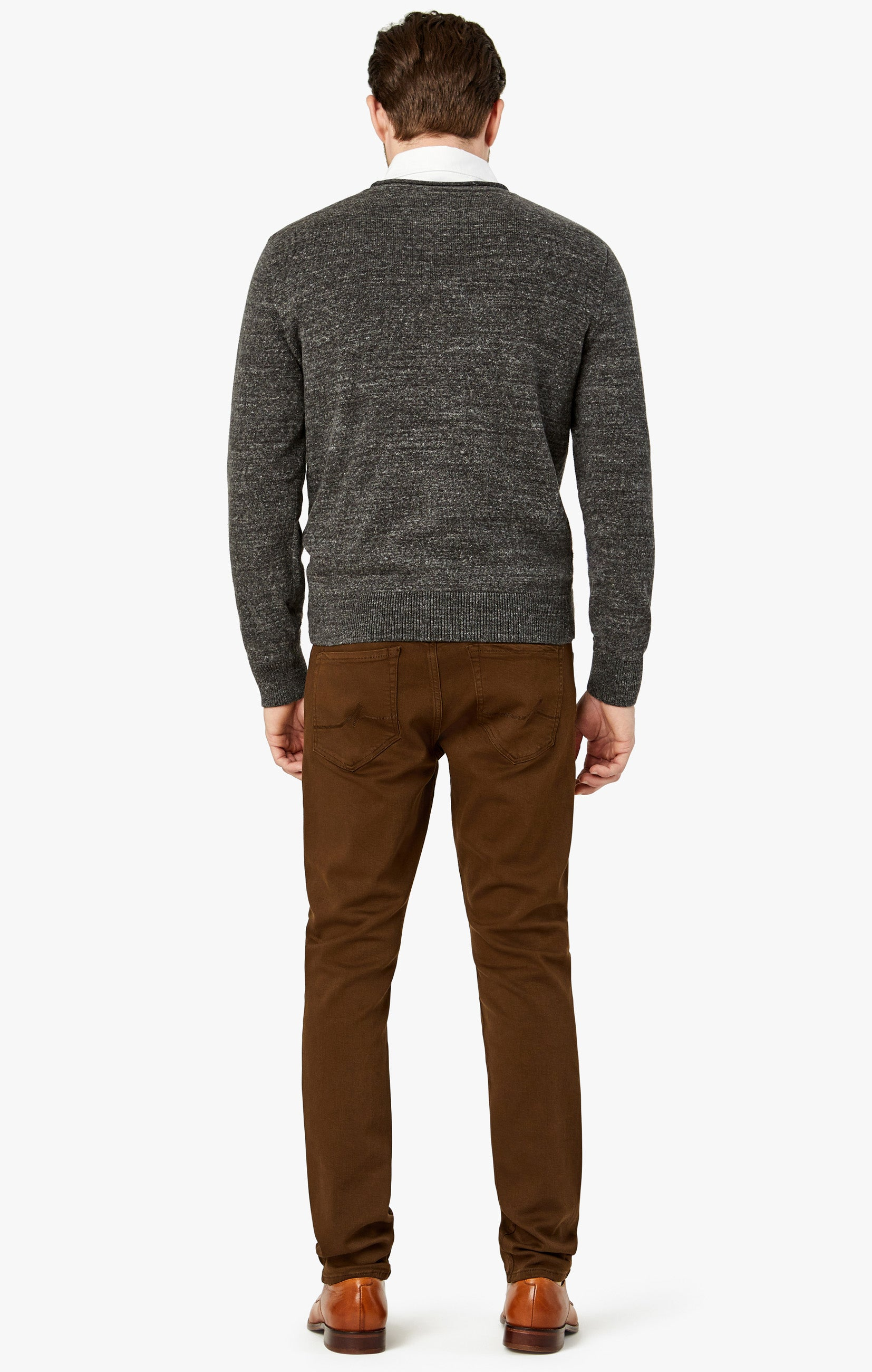 Charisma Relaxed Straight Pants in Brown Comfort Image 5
