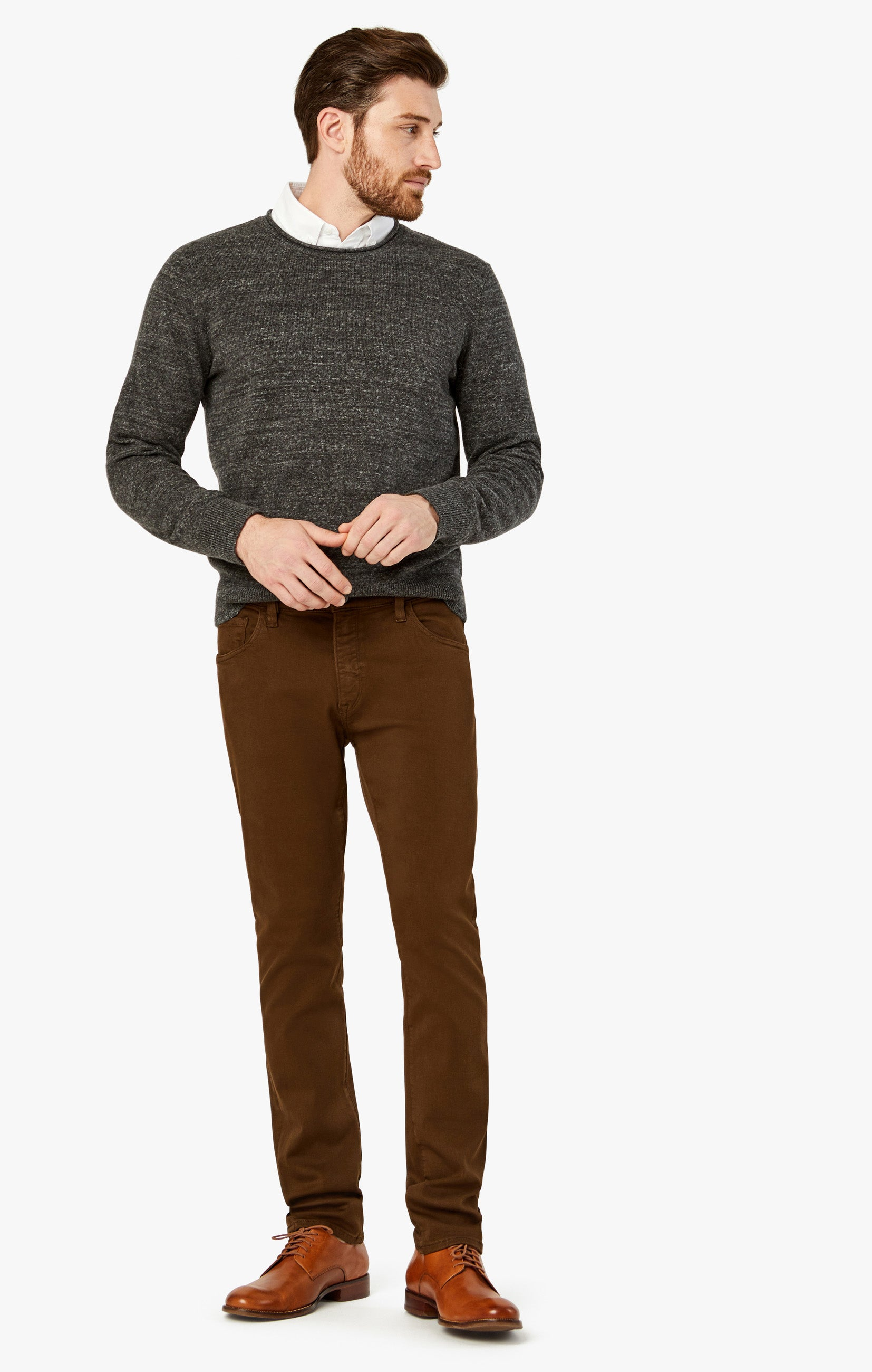 Charisma Relaxed Straight Pants in Brown Comfort Image 2