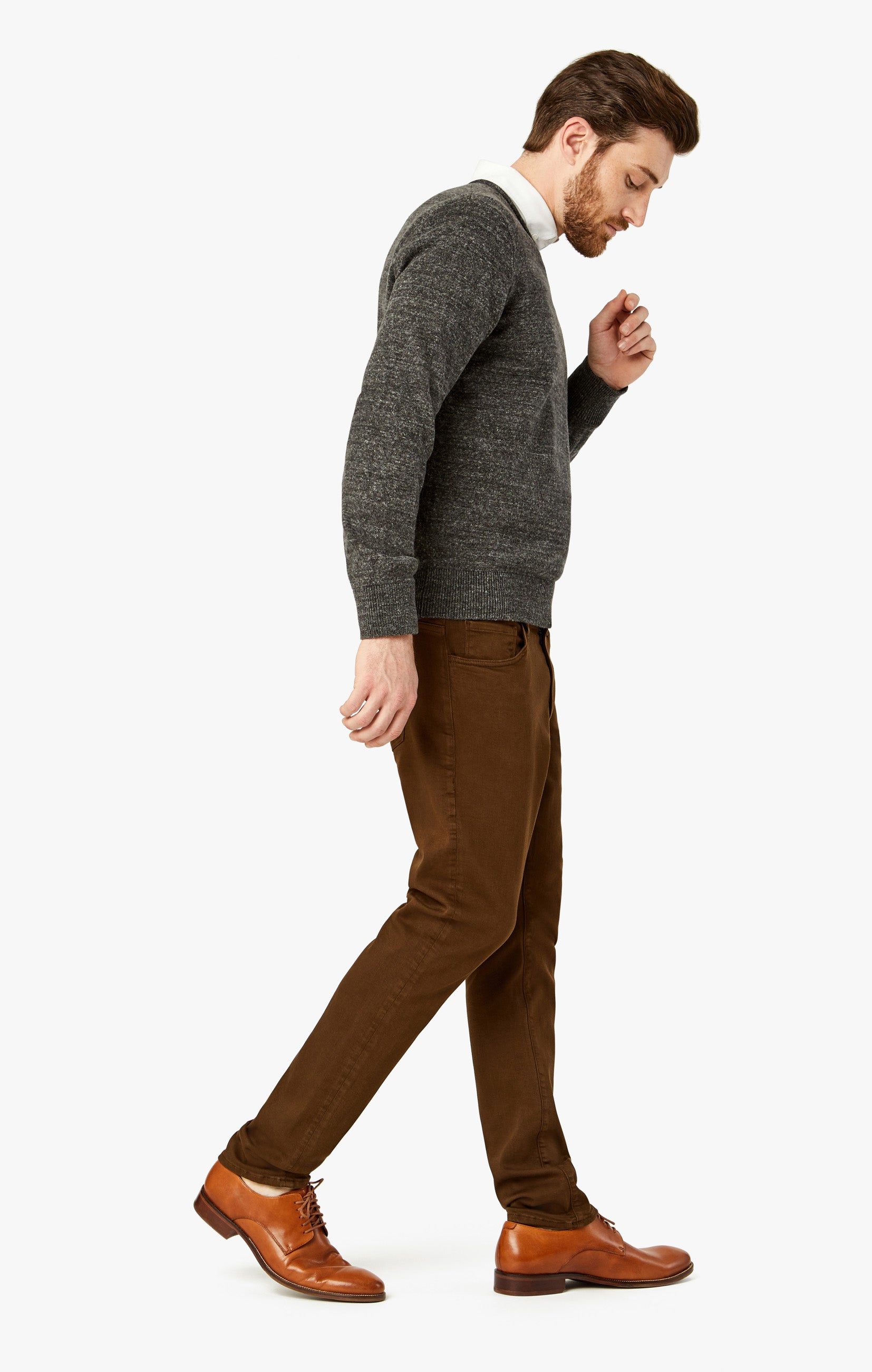 Charisma Relaxed Straight Pants in Brown Comfort Image 6
