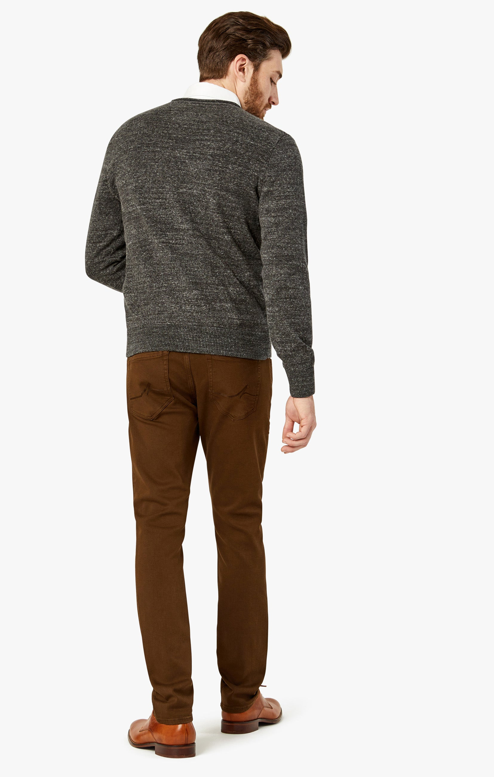 Charisma Relaxed Straight Pants in Brown Comfort Image 1