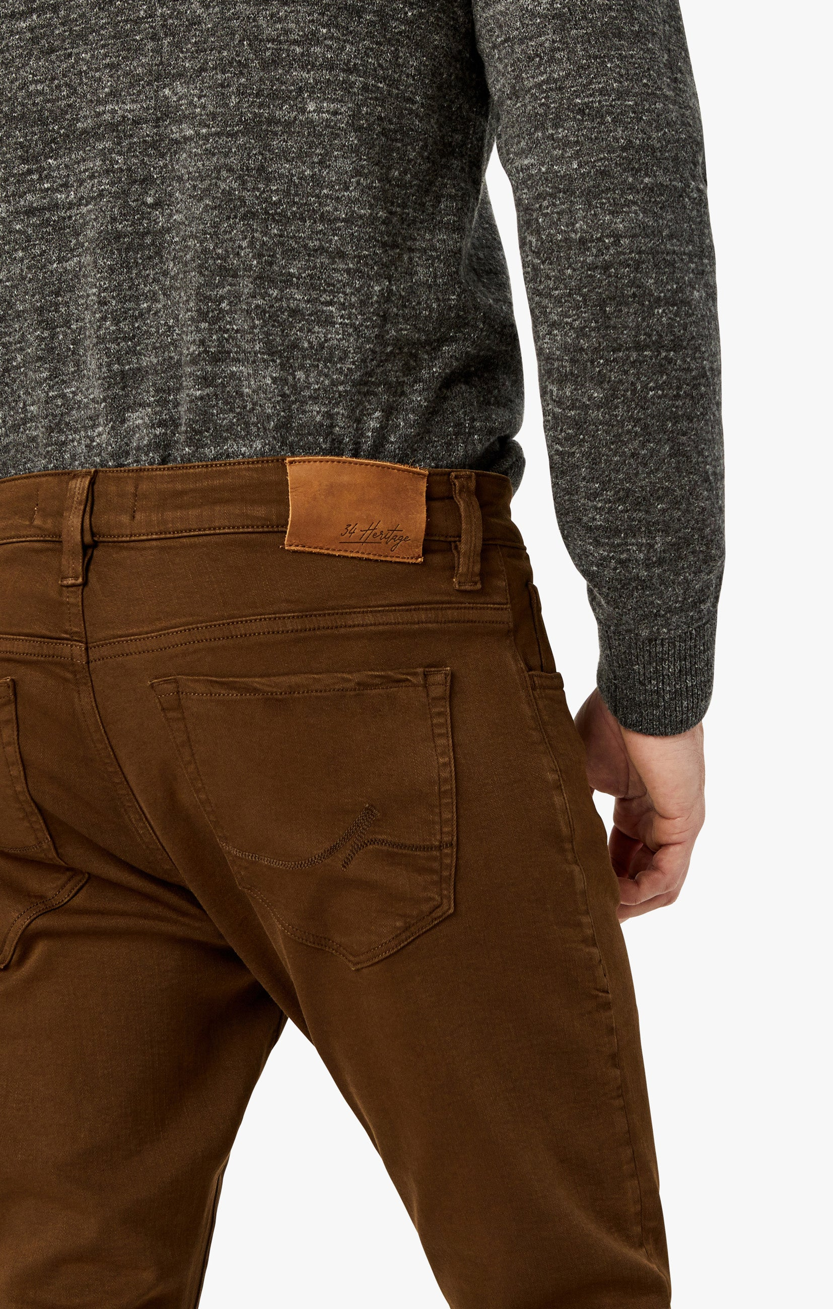 Charisma Relaxed Straight Pants in Brown Comfort Image 7