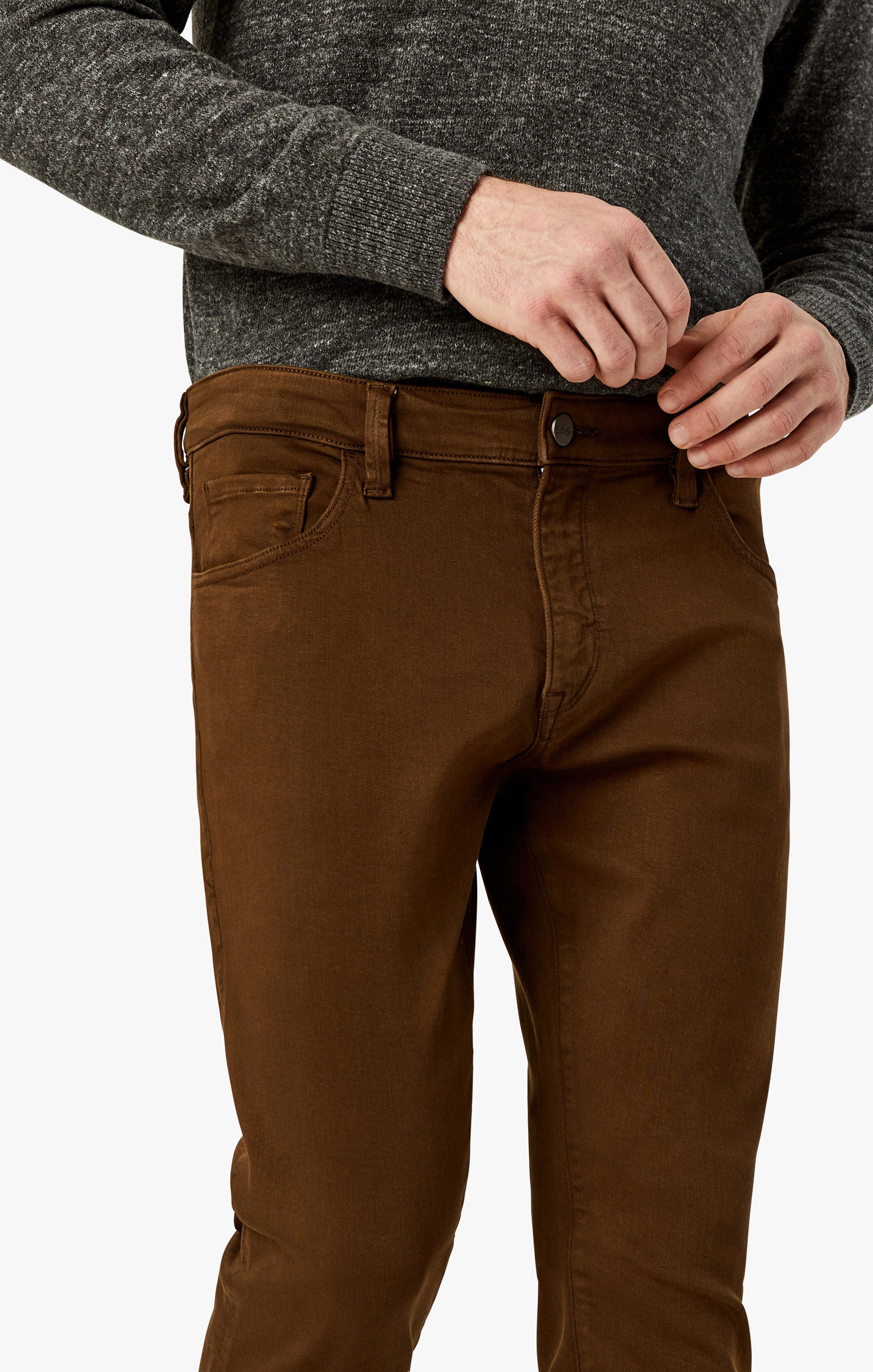 Charisma Relaxed Straight Pants in Brown Comfort Image 8