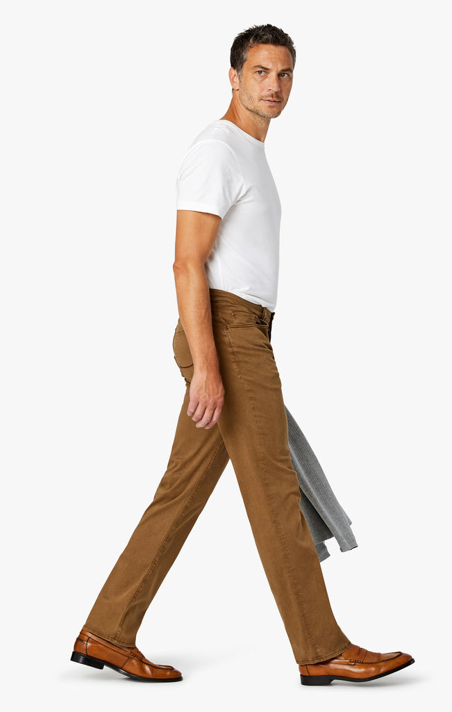 Charisma Relaxed Straight Leg in Tobacco Twill - 34 Heritage