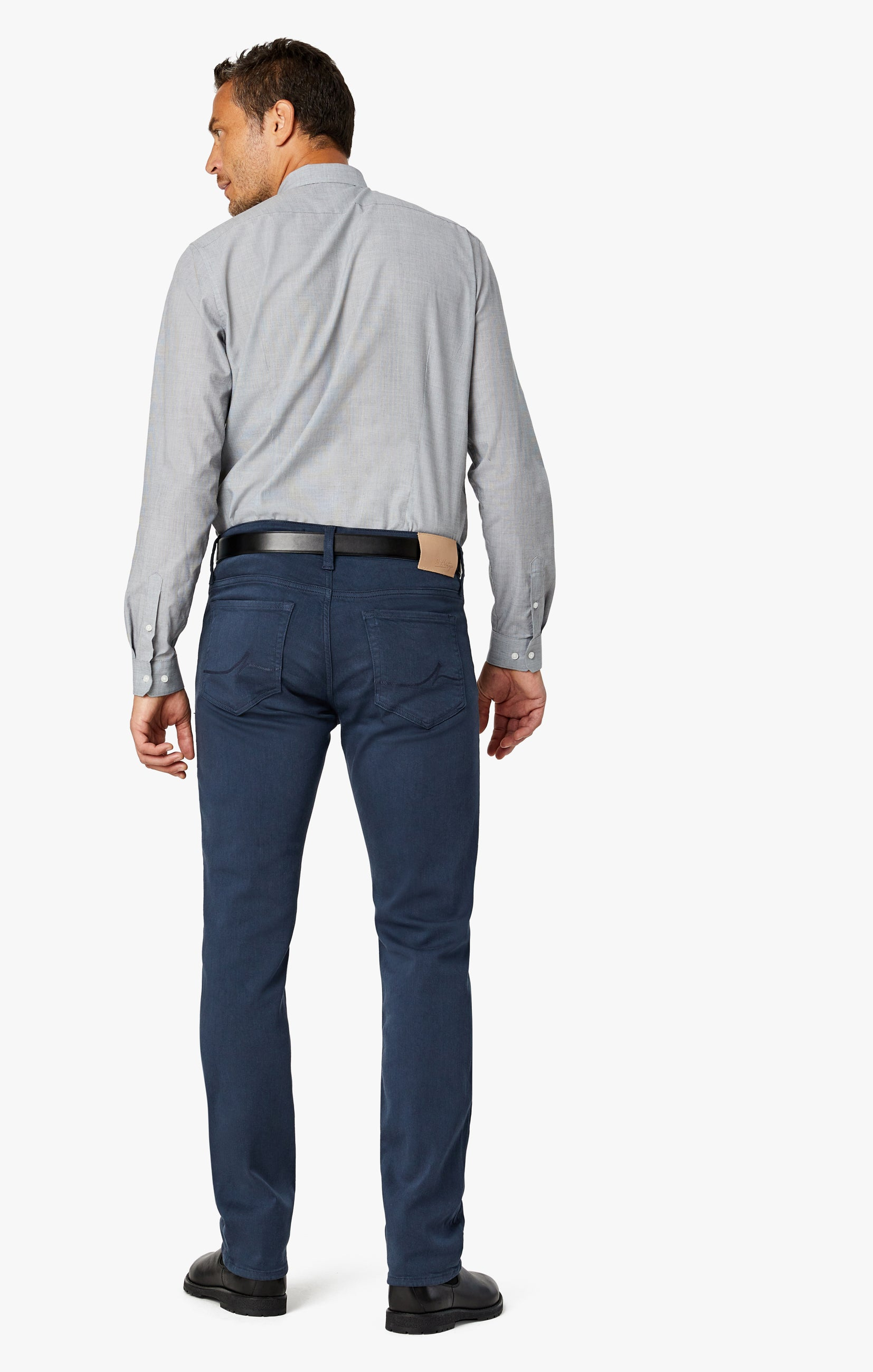 Charisma Relaxed Straight Pants In Dusty Navy Comfort Image 3