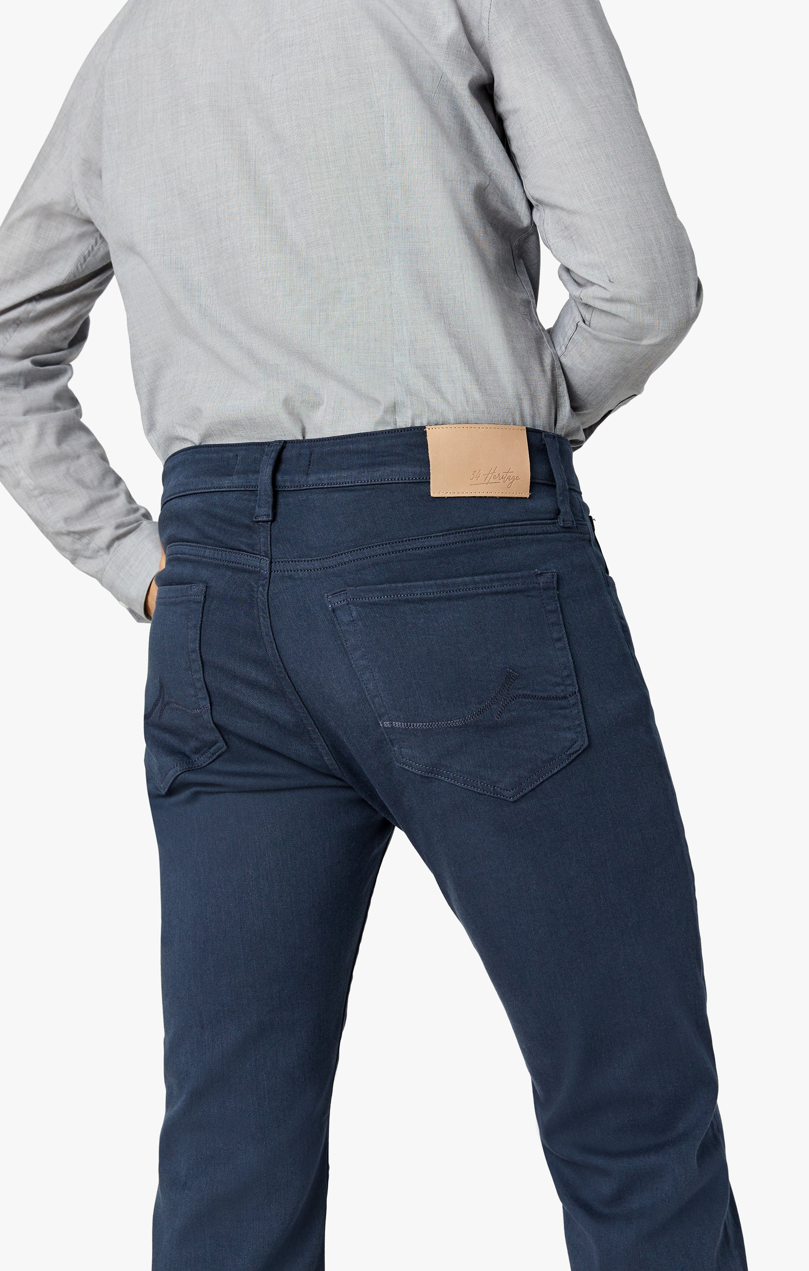 Charisma Relaxed Straight Pants In Dusty Navy Comfort Image 4