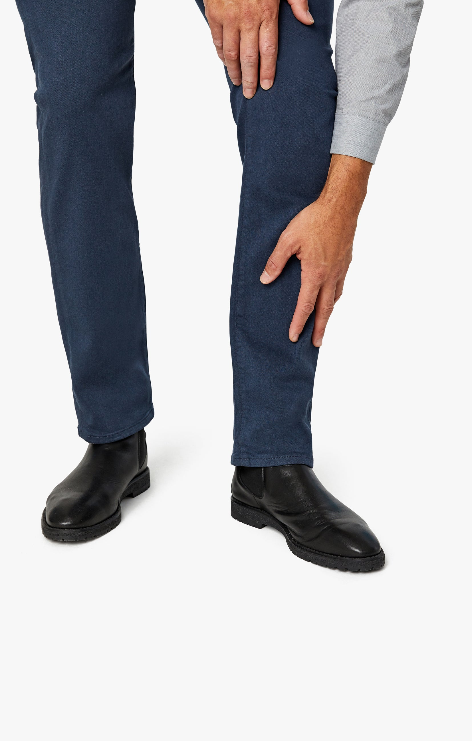 Charisma Relaxed Straight Pants In Dusty Navy Comfort Image 6