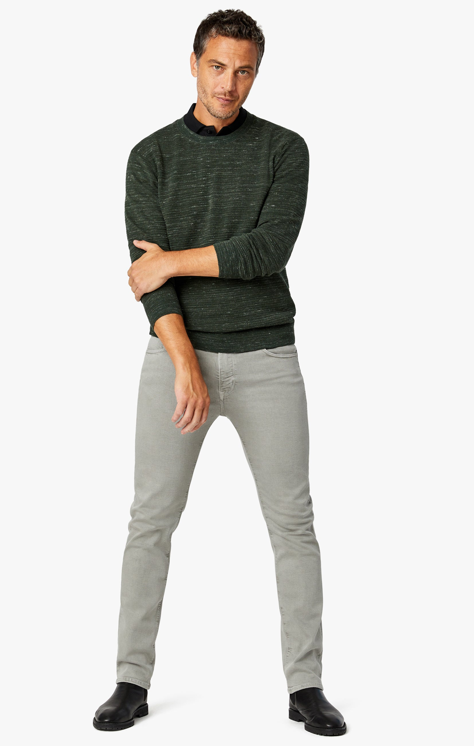 Charisma Relaxed Straight Pants In Light Grey Comfort Image 1
