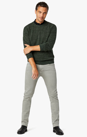 Charisma Relaxed Straight Pants In Light Grey Comfort