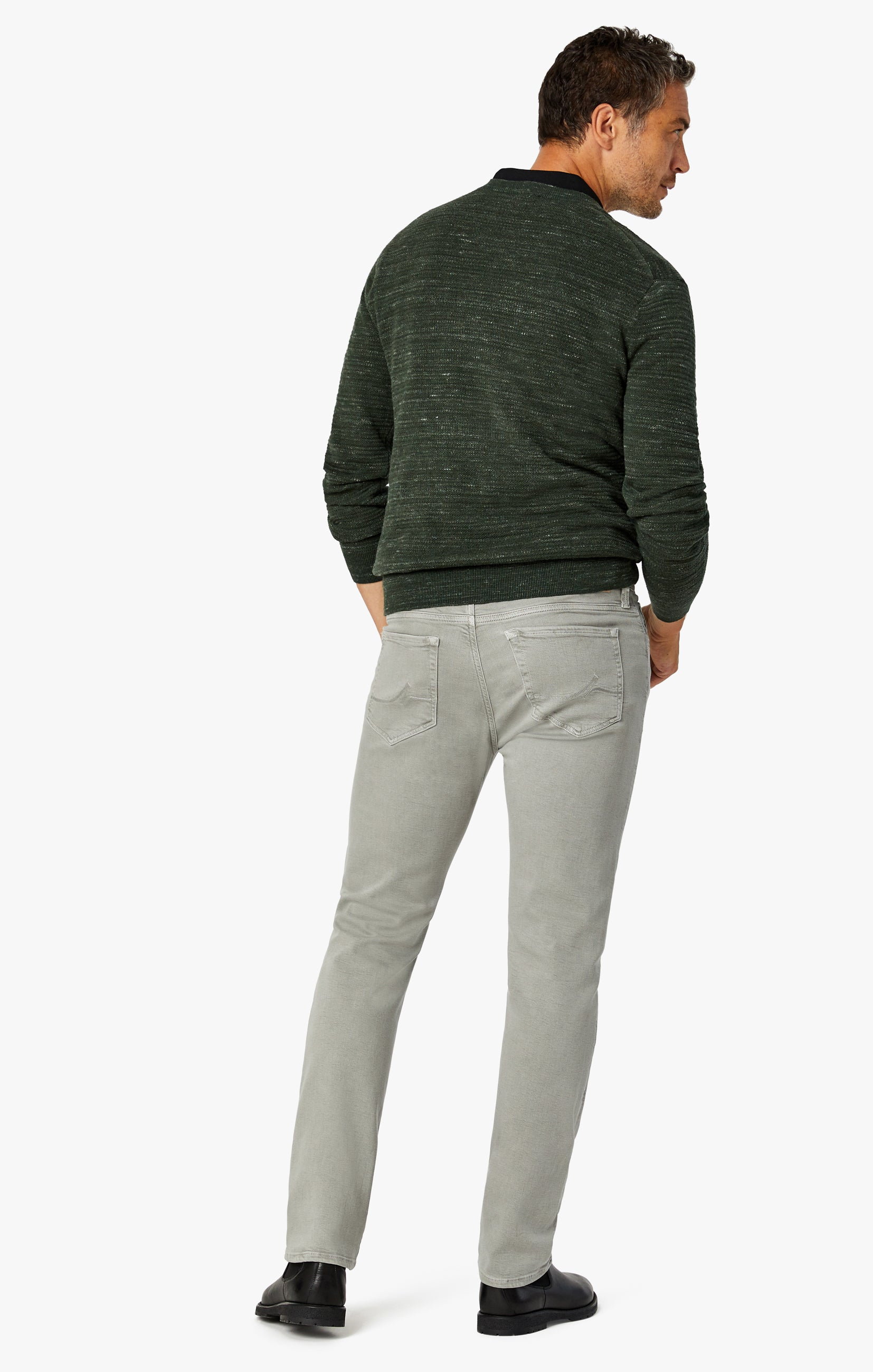 Charisma Relaxed Straight Pants In Light Grey Comfort Image 3