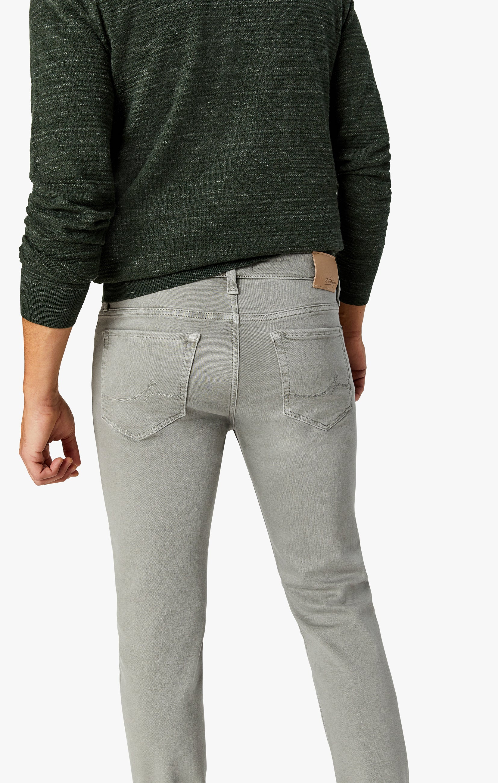 Charisma Relaxed Straight Pants In Light Grey Comfort Image 4