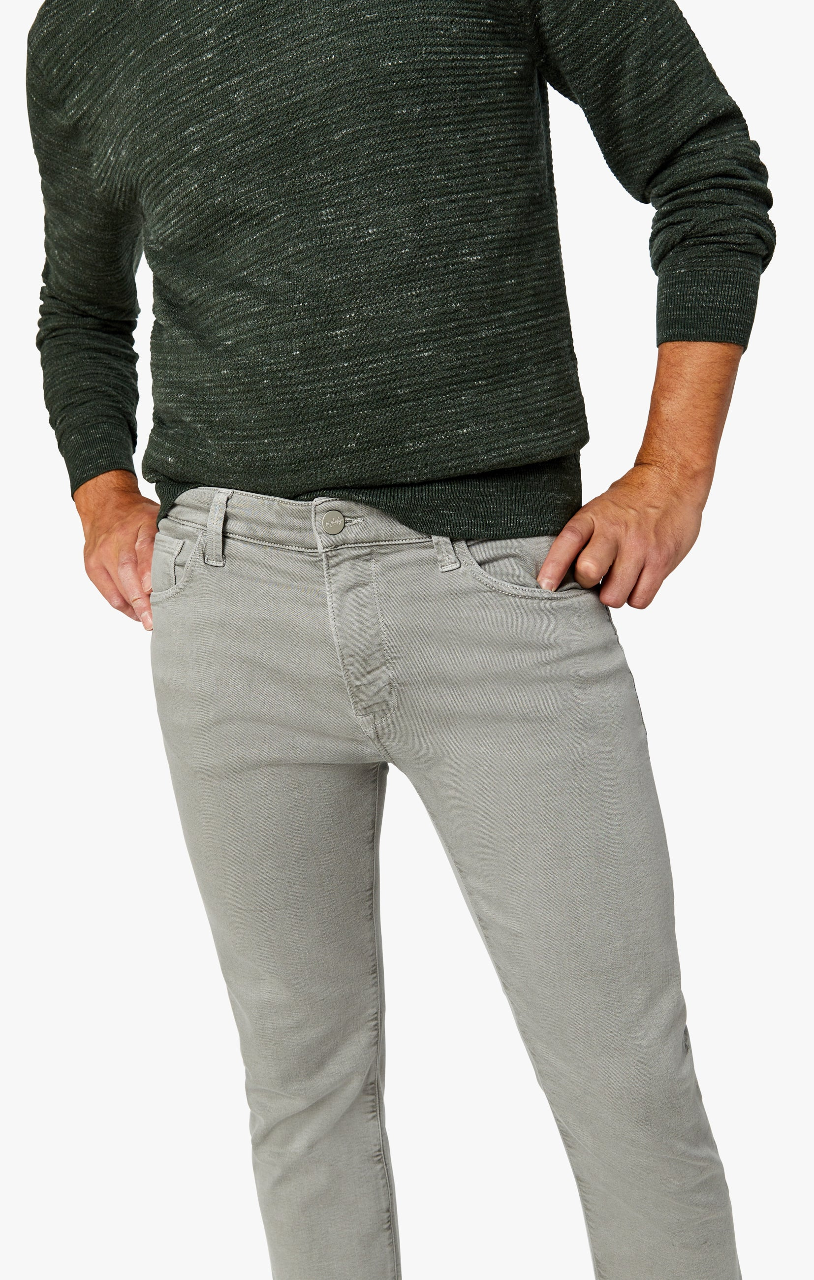 Charisma Relaxed Straight Pants In Light Grey Comfort Image 5