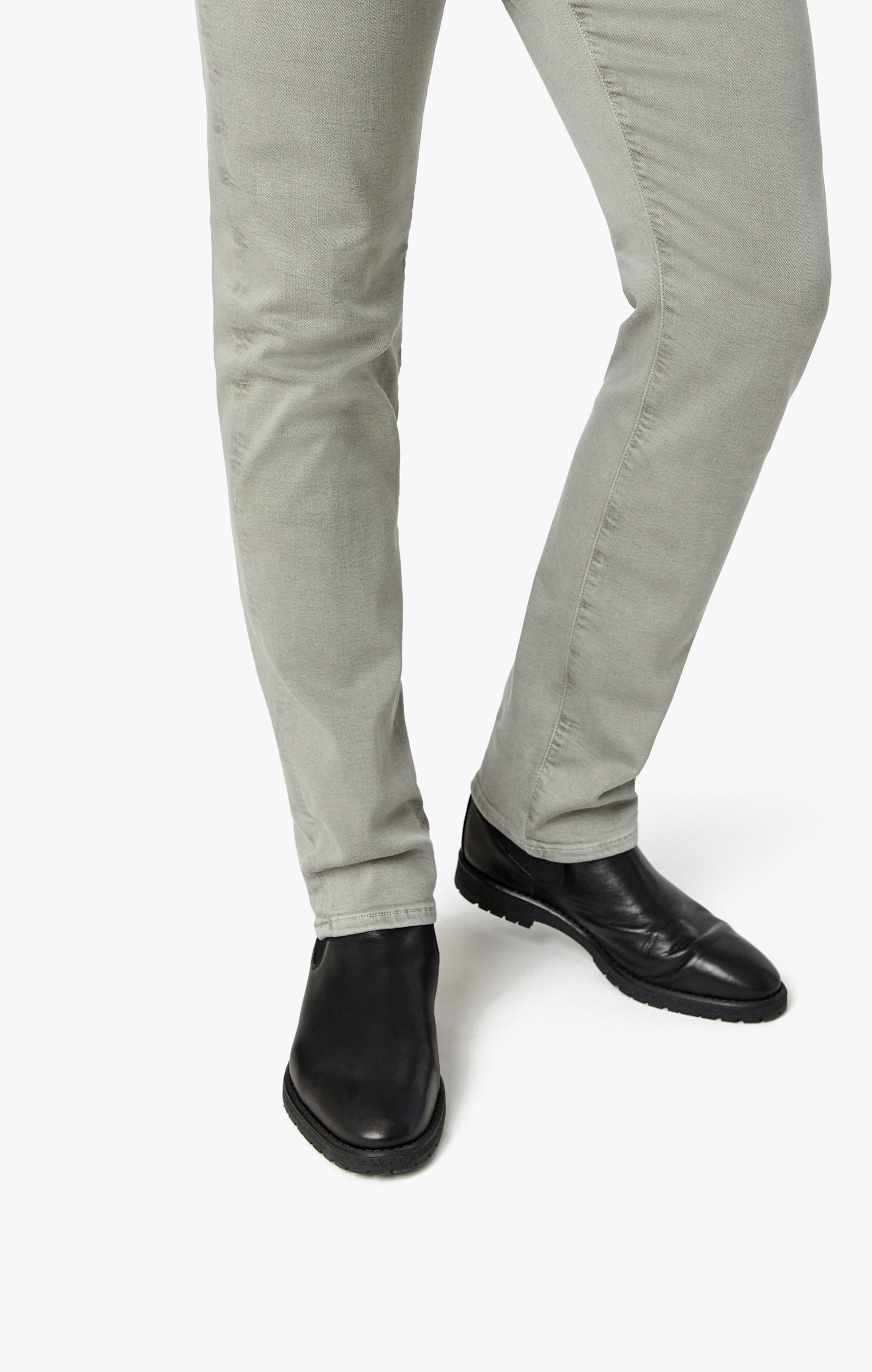 Charisma Relaxed Straight Pants In Light Grey Comfort Image 6