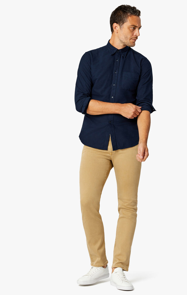 Charisma Relaxed Straight Pants In Camel Comfort