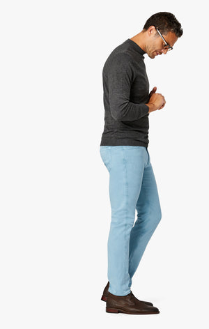 Charisma Relaxed Straight Pants In Light Blue Comfort