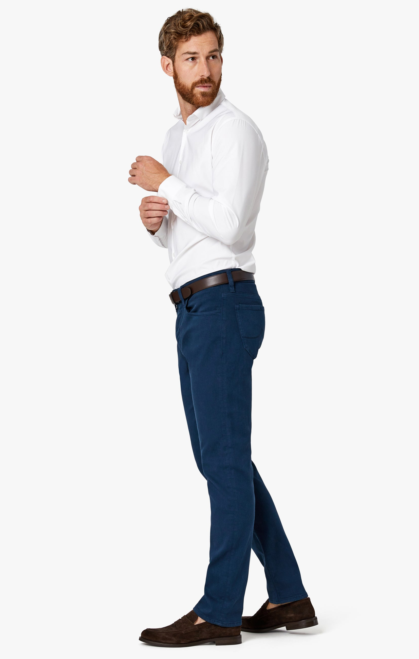 Charisma Relaxed Straight Pants in Petrol Comfort Image 6