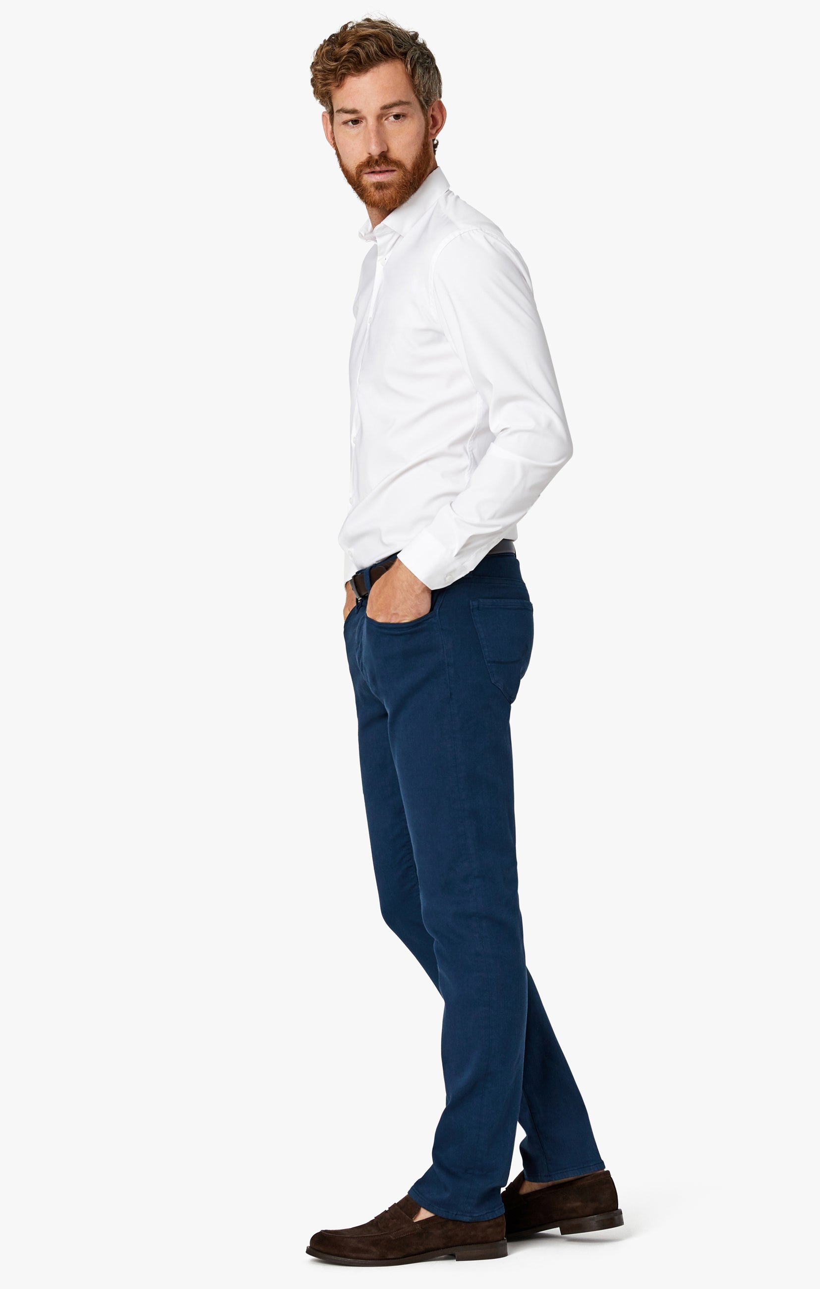 Charisma Relaxed Straight Pants in Petrol Comfort Image 8