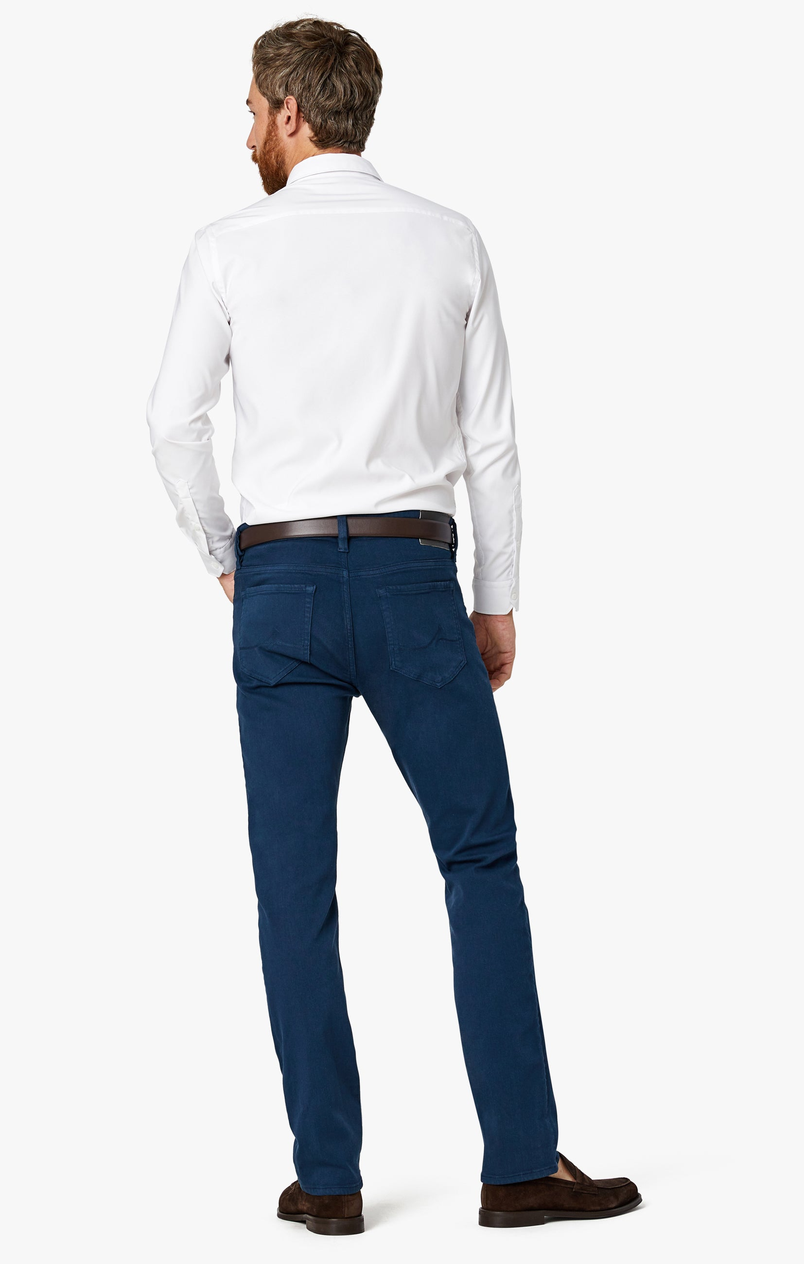 Charisma Relaxed Straight Pants in Petrol Comfort Image 9