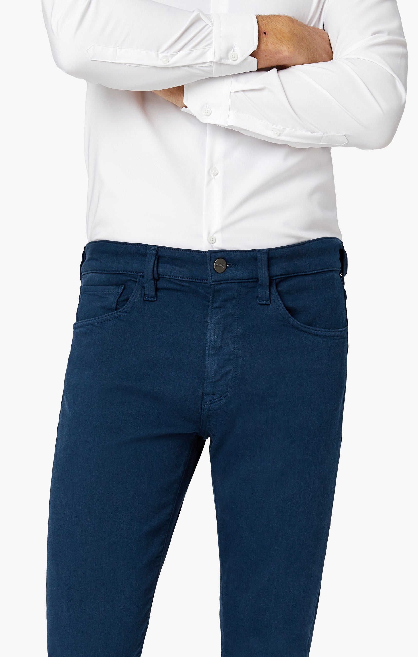 Charisma Relaxed Straight Pants in Petrol Comfort Image 3