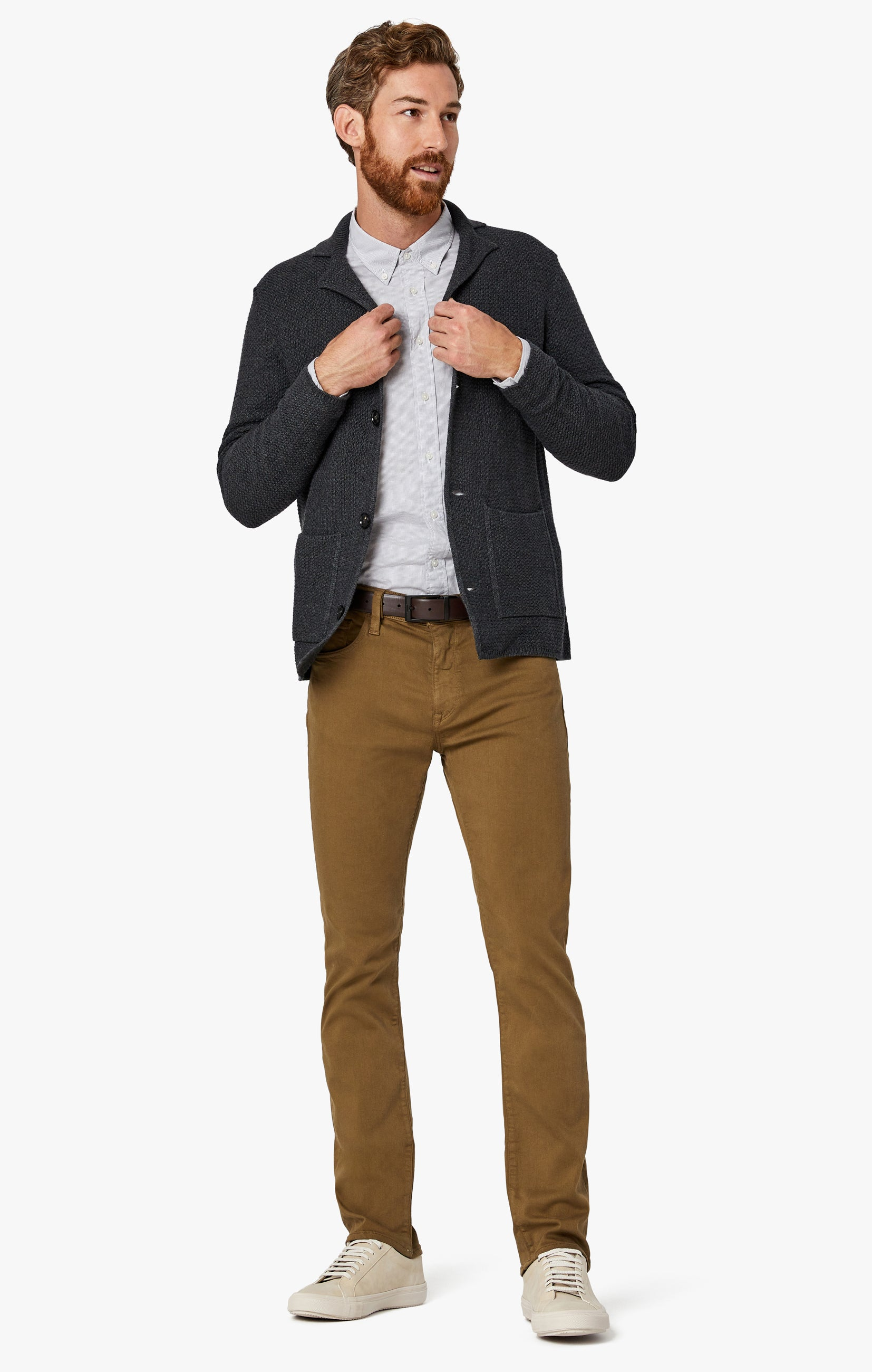 Charisma Relaxed Straight Pants in Tobacco Comfort Image 3