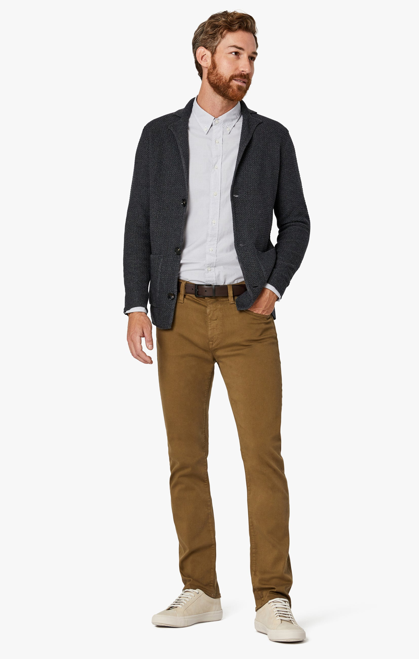 Charisma Relaxed Straight Pants in Tobacco Comfort Image 2
