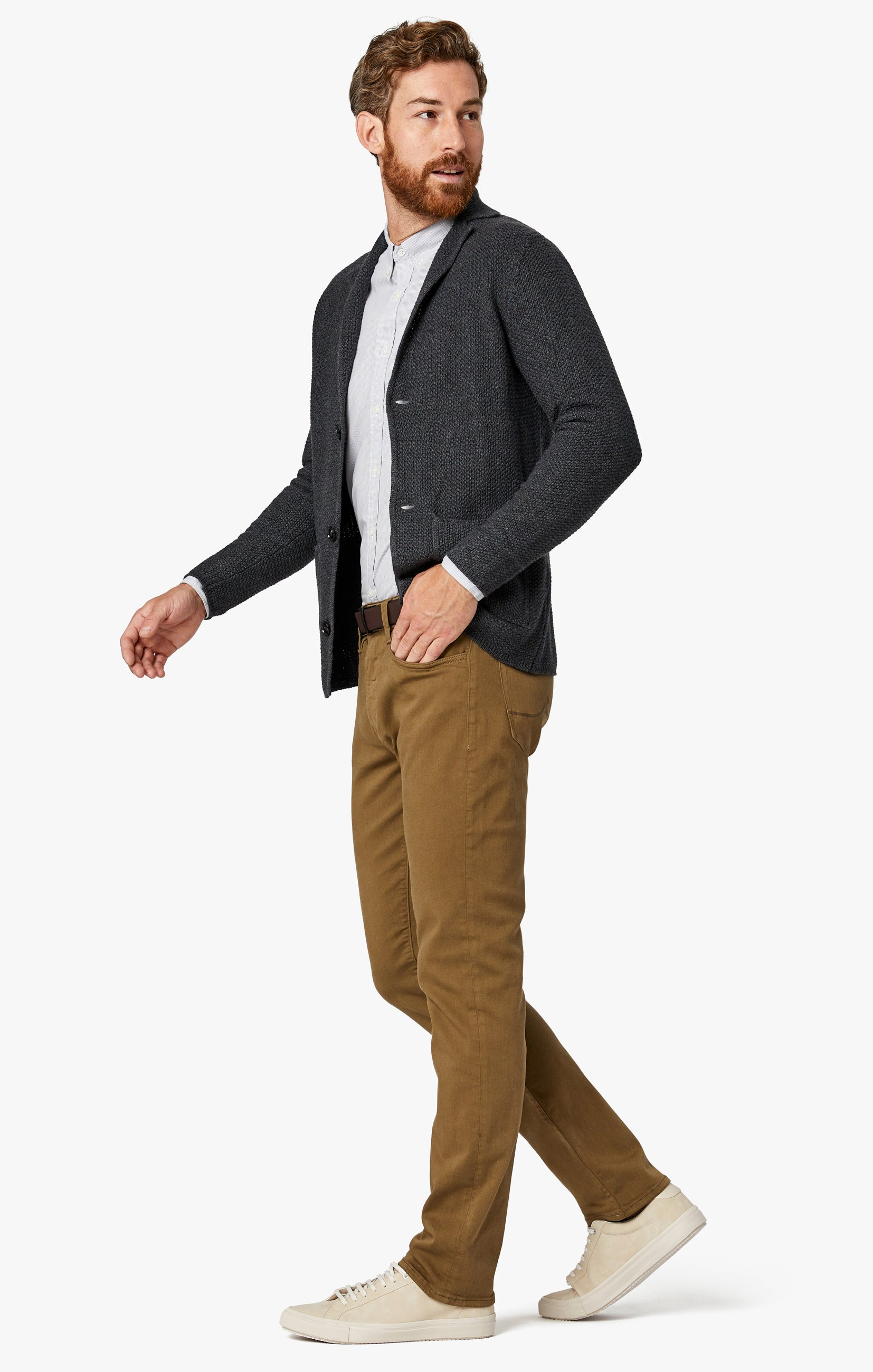 Charisma Relaxed Straight Pants in Tobacco Comfort Image 1
