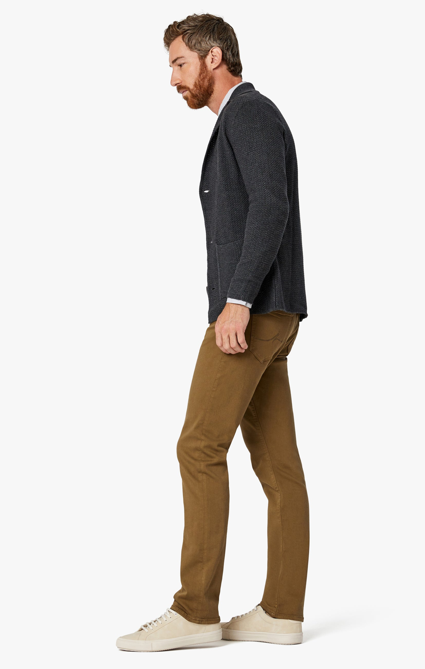 Charisma Relaxed Straight Pants in Tobacco Comfort Image 7
