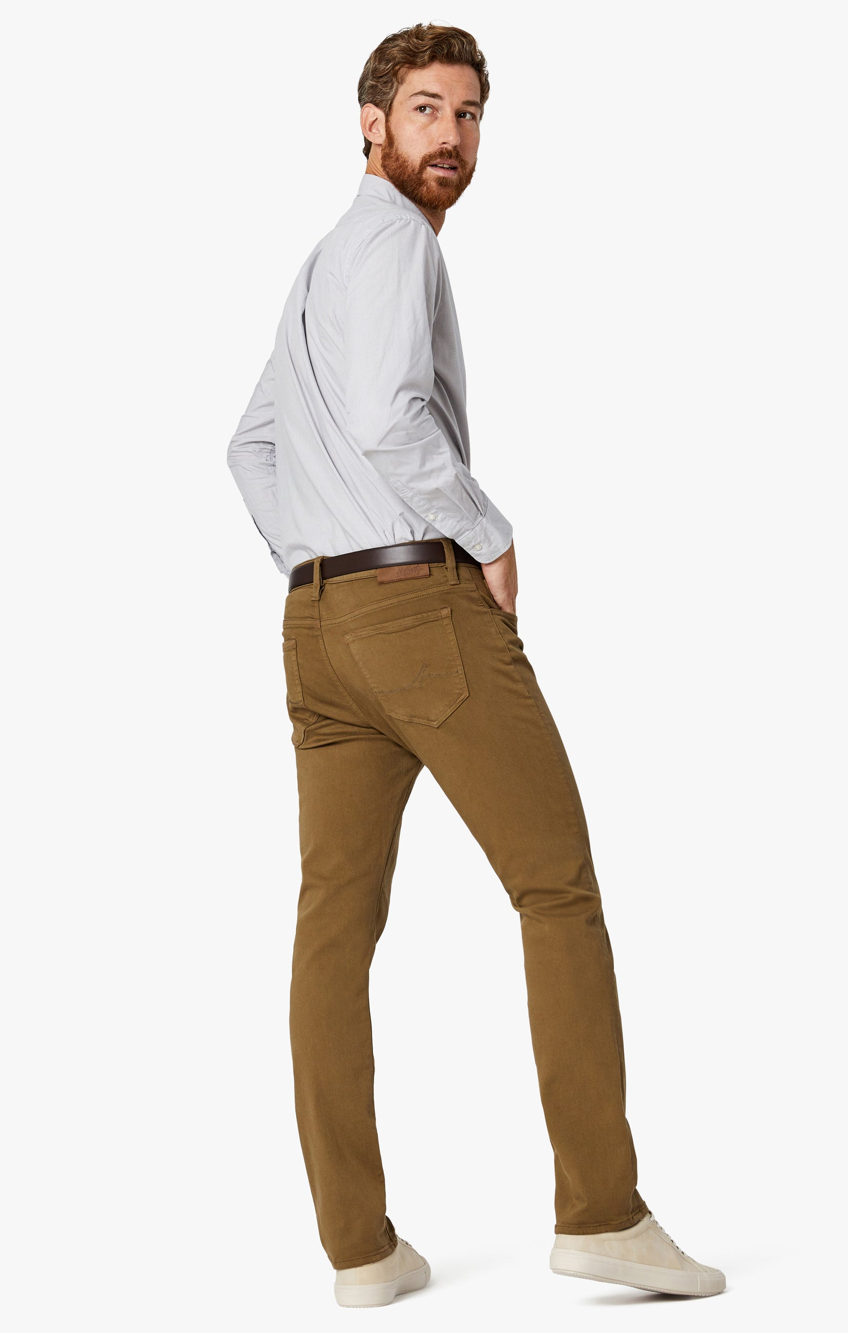 Charisma Relaxed Straight Pants in Tobacco Comfort Image 9