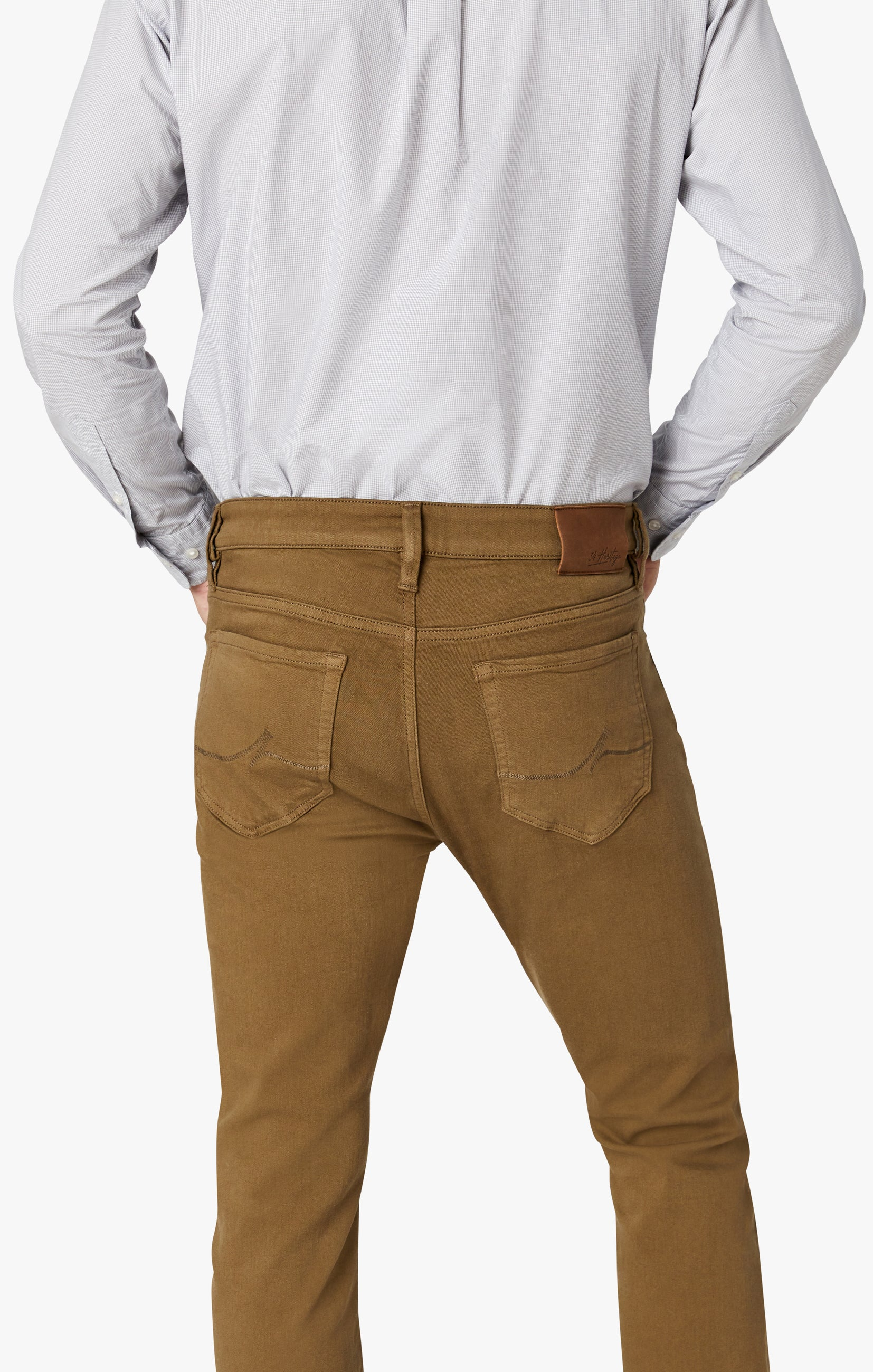 Charisma Relaxed Straight Pants in Tobacco Comfort Image 5