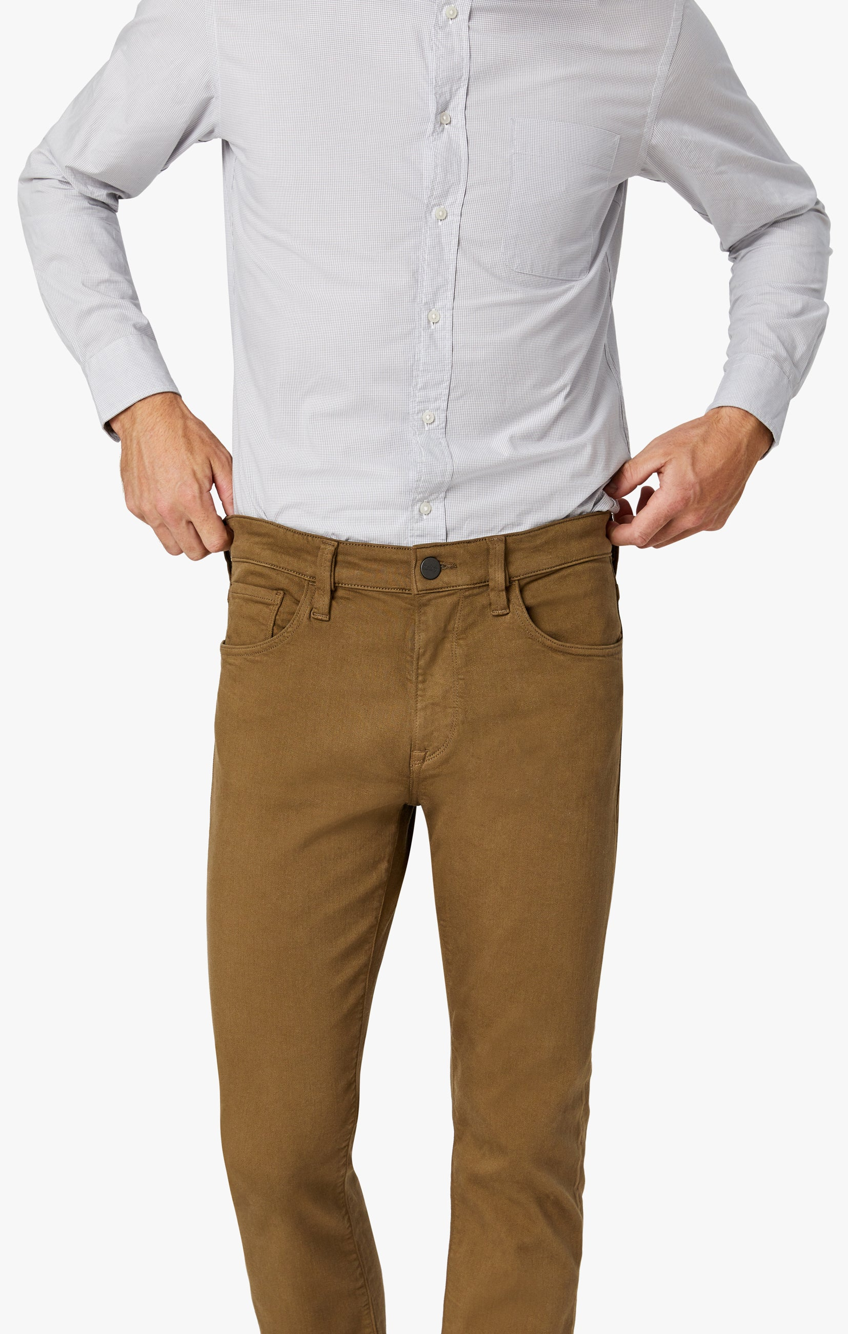 Charisma Relaxed Straight Pants in Tobacco Comfort Image 6