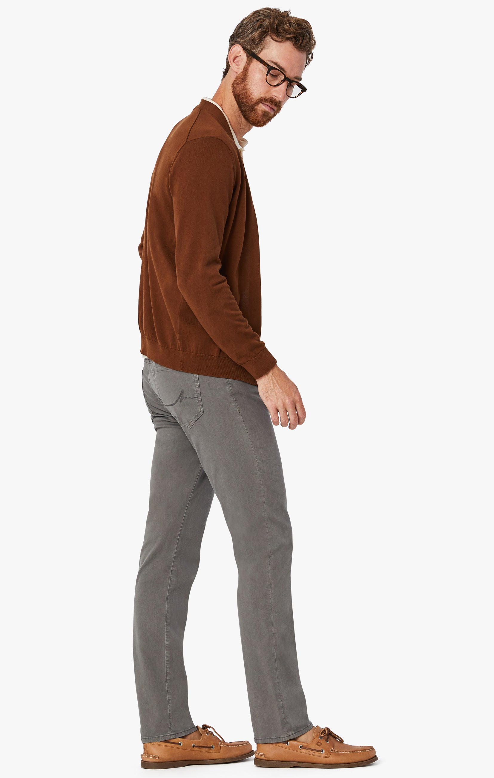 Charisma Relaxed Straight Pants in Dark Stone Twill Image 9