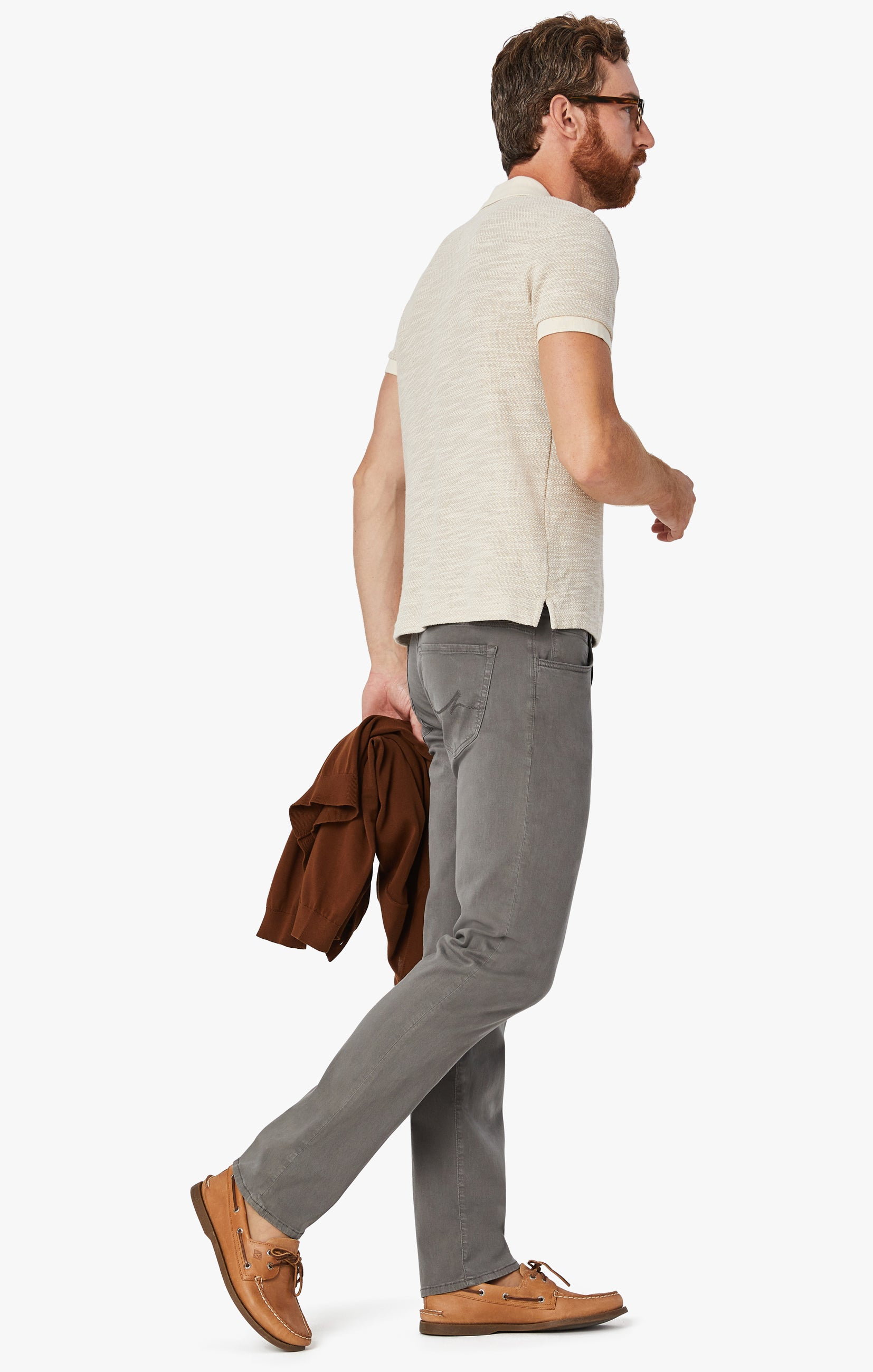 Charisma Relaxed Straight Pants in Dark Stone Twill Image 2