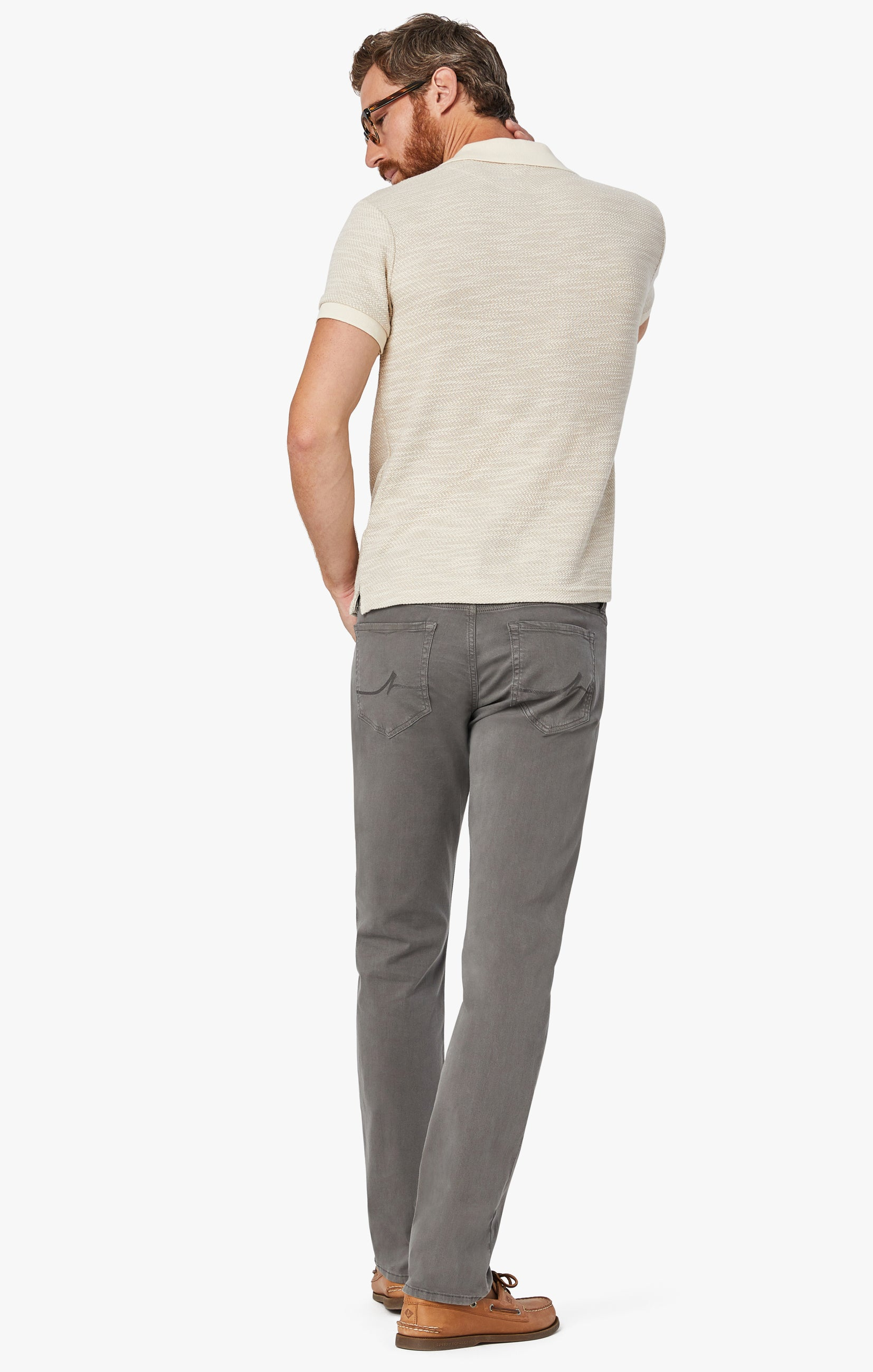 Charisma Relaxed Straight Pants in Dark Stone Twill Image 3