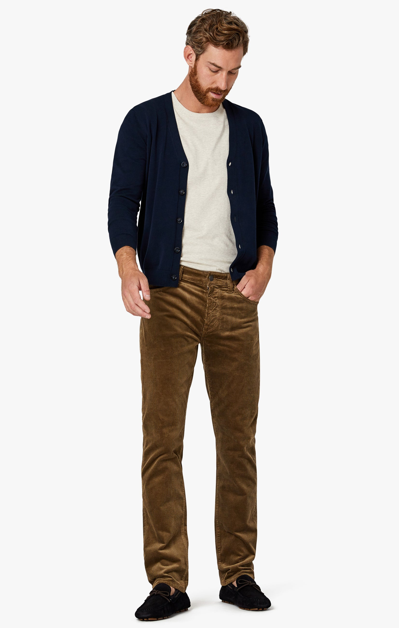Charisma Relaxed Straight Pants in Tobacco Cord Image 4