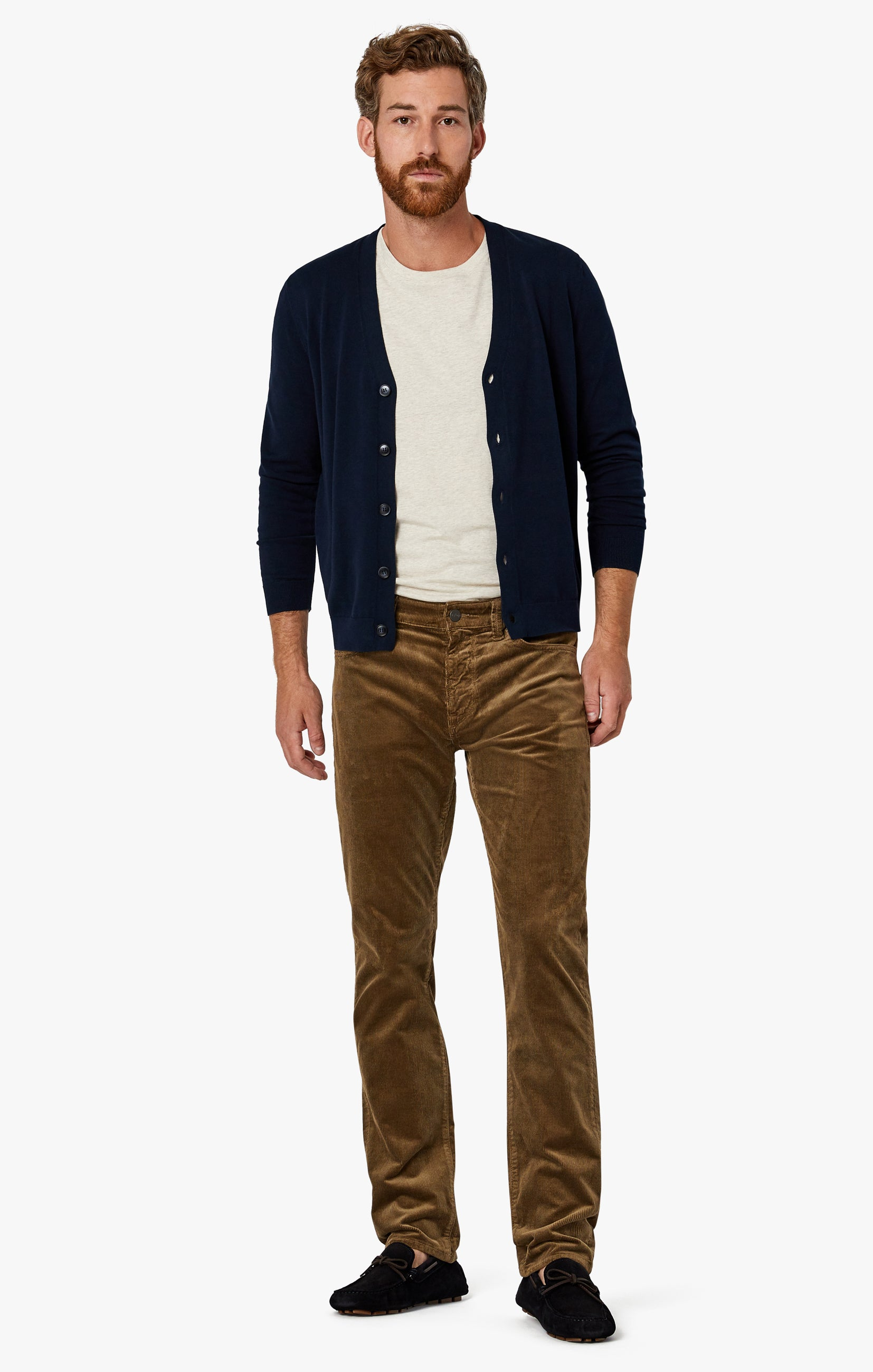 Charisma Relaxed Straight Pants in Tobacco Cord Image 3