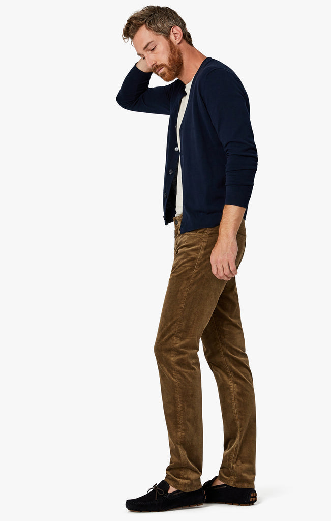 Charisma Relaxed Straight Pants in Tobacco Cord