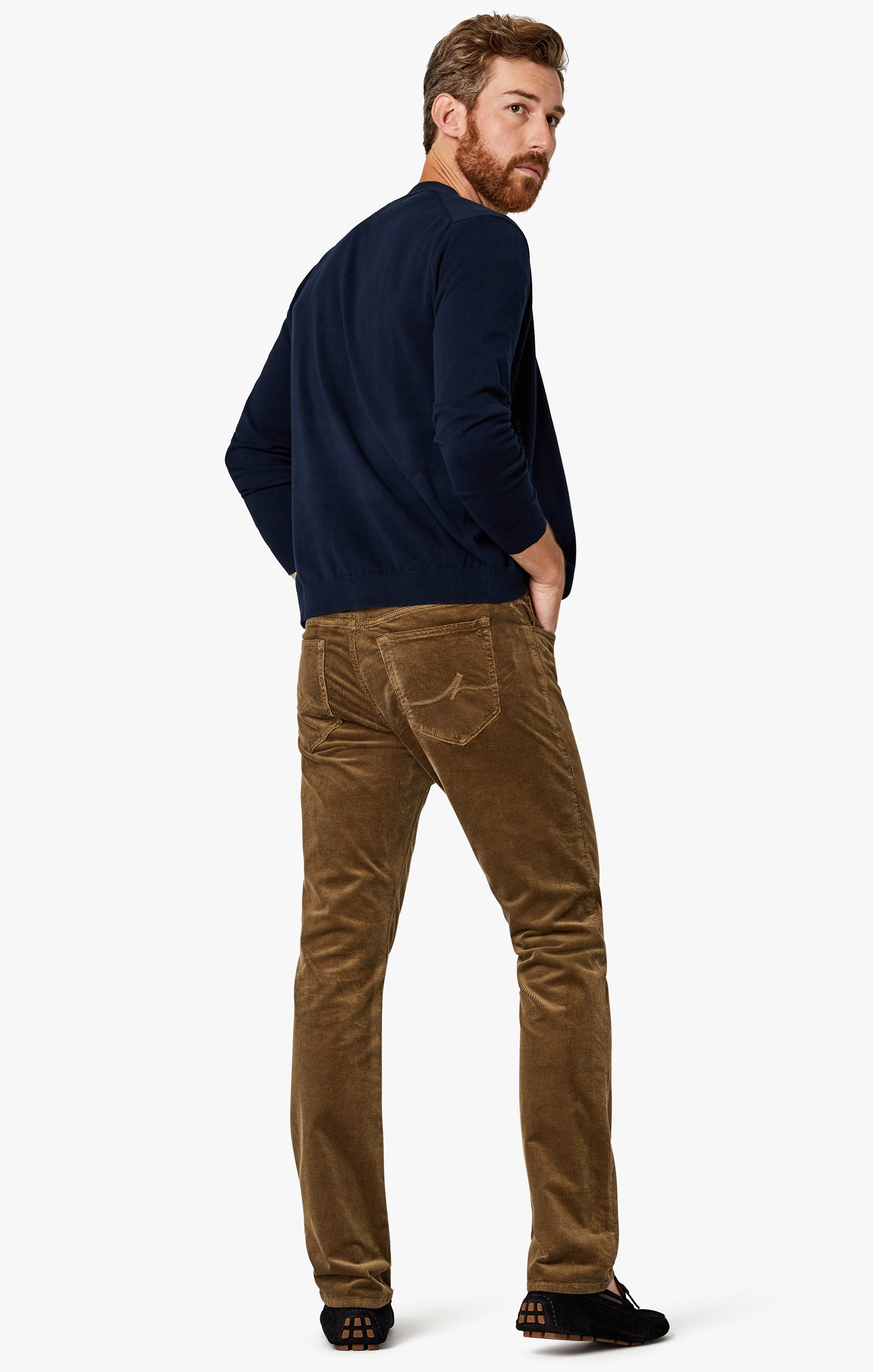 Charisma Relaxed Straight Pants in Tobacco Cord Image 1